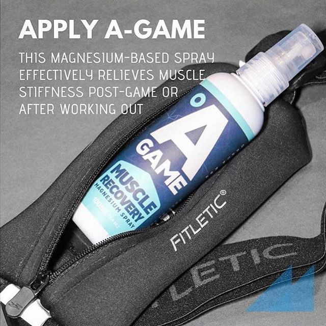 If you're working out or going on a run this weekend, make sure you recover the right way so your muscles don't get too sore. Spray A-Game's Muscle Recovery Magnesium Spray to get that much-needed magnesium into your body. It will cool you down faster and decrease inflammation in your muscles. Try it now (link in bio) 💪🏻 #BringYourAGame
