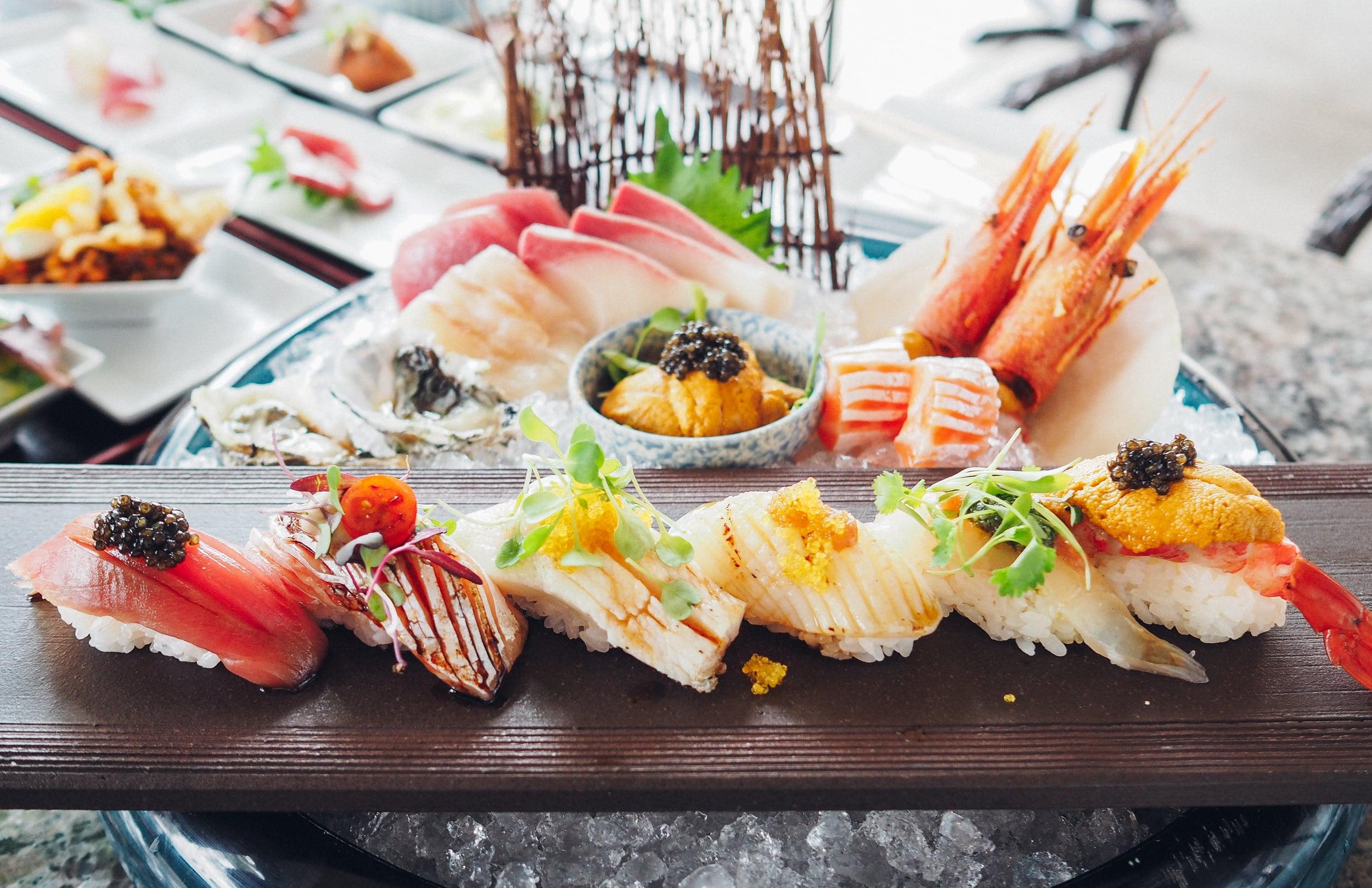 Chefs Moriawase Sashimi and Nigiri Plate