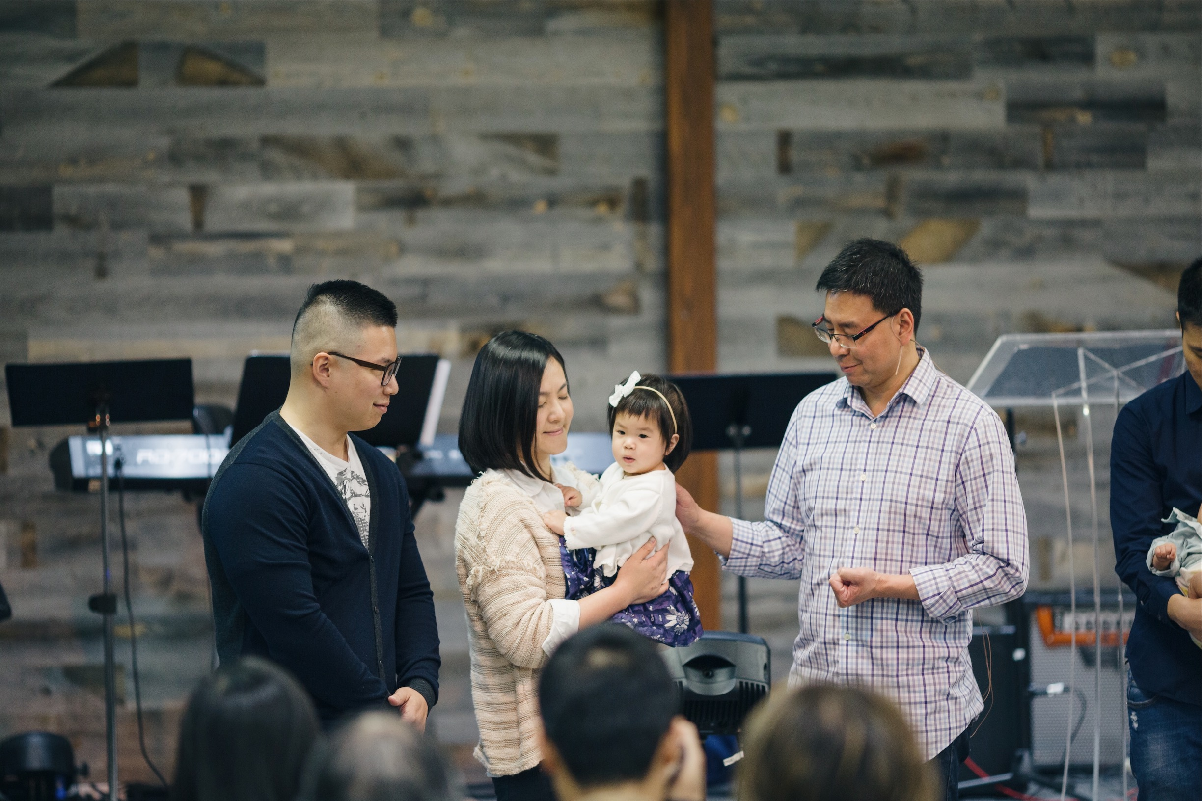 Congratulation, Justin and Ivy, for their baby Emma's dedication!