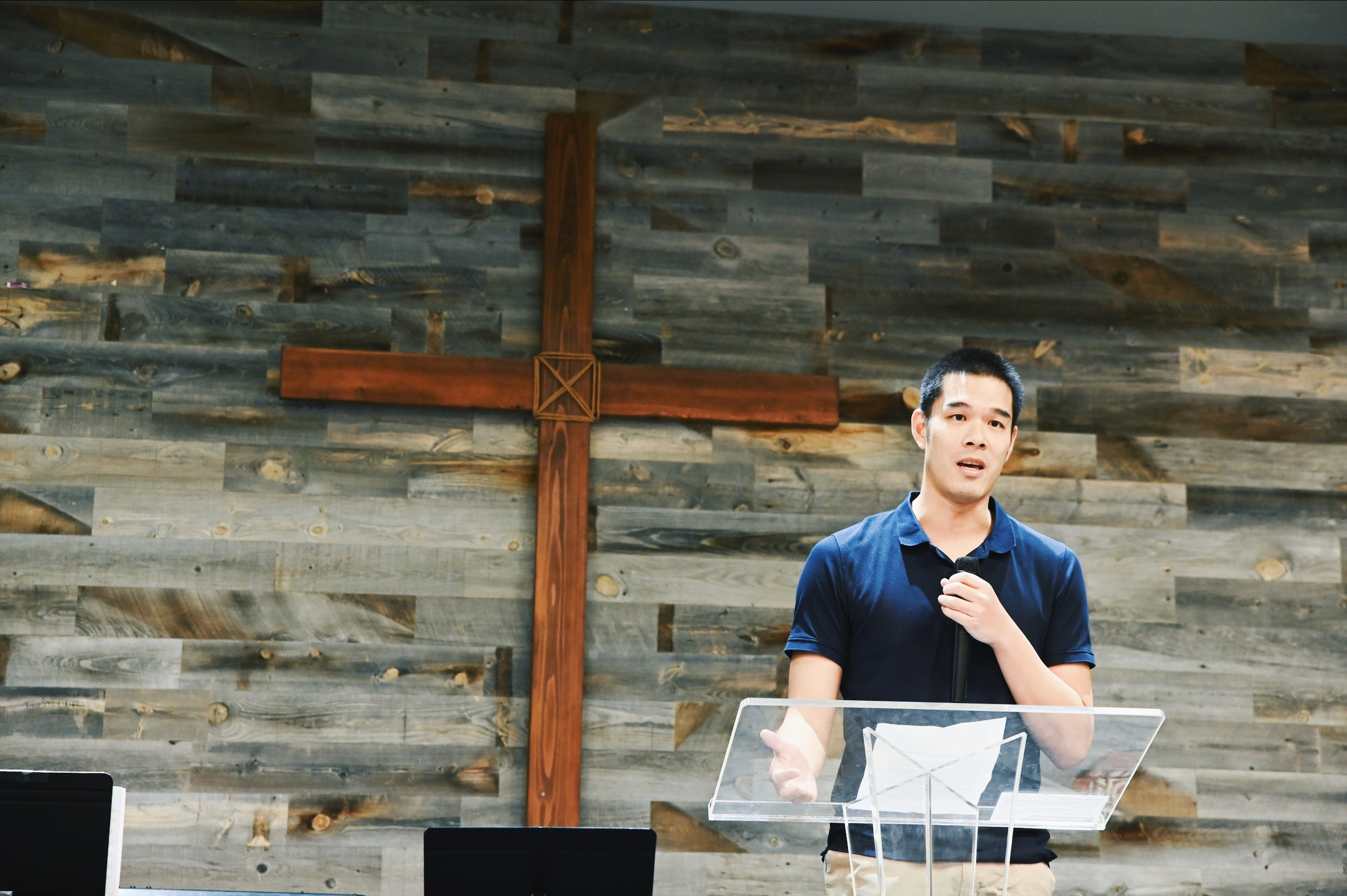 Alex Liang sharing his touching testimony