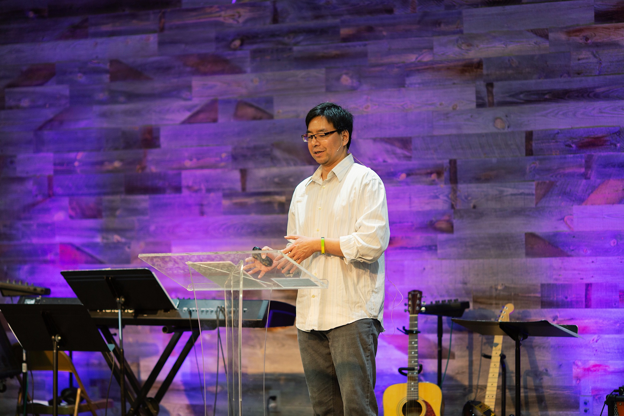 """Pastor Ben preaching """"Where does our help come from?"""""""