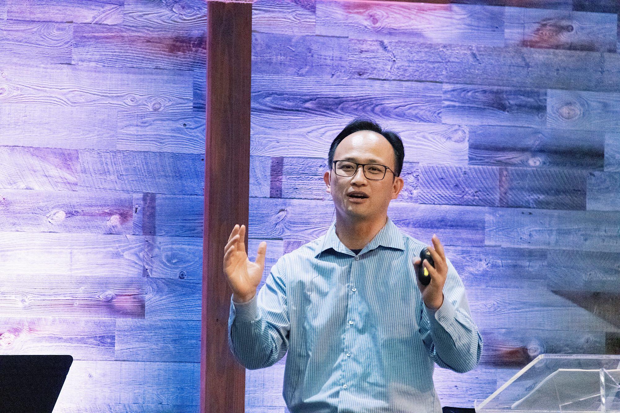 Pastor KC preaching at 1.5 Gen