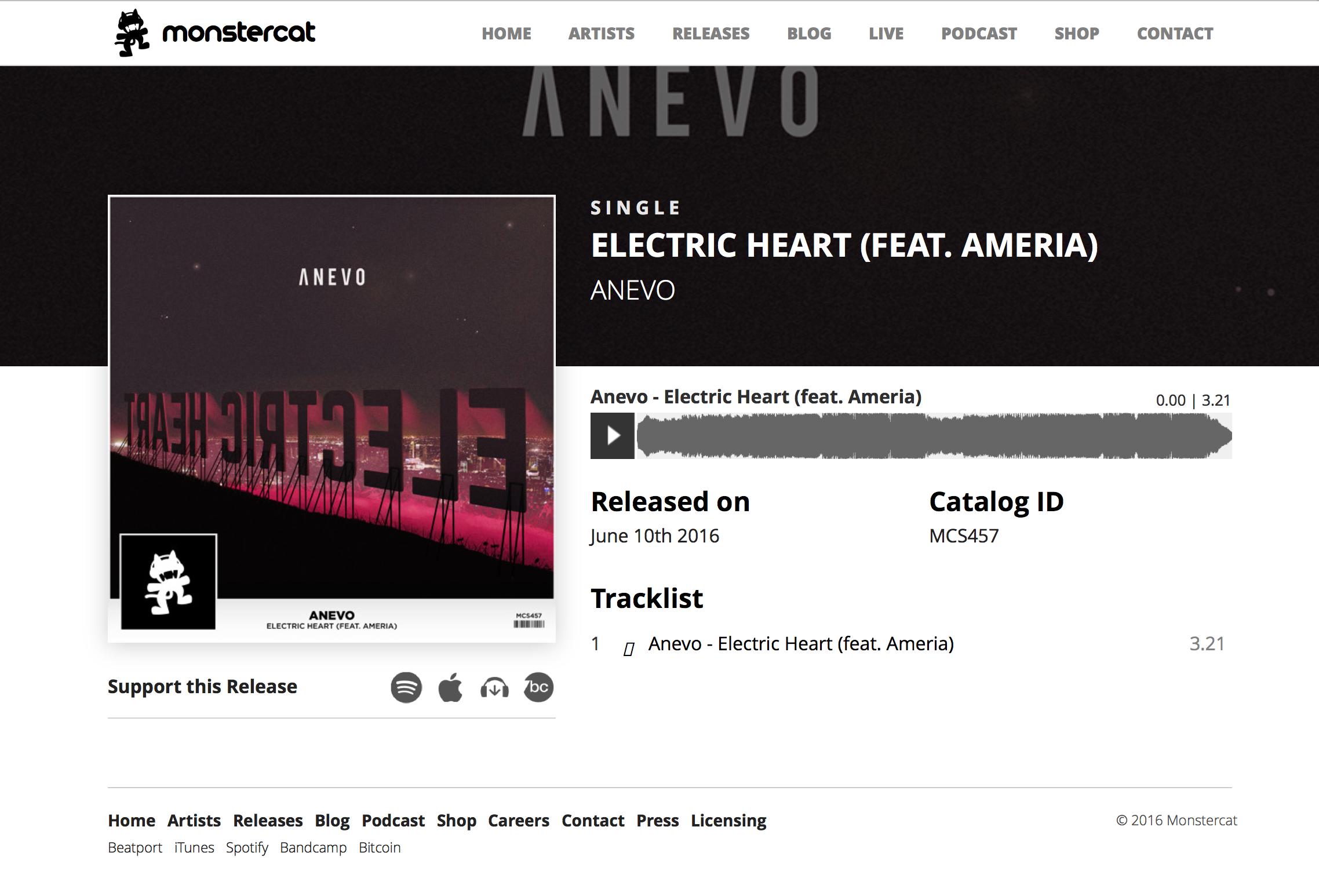 """Electric Heart"" MONSTERCAT Release"