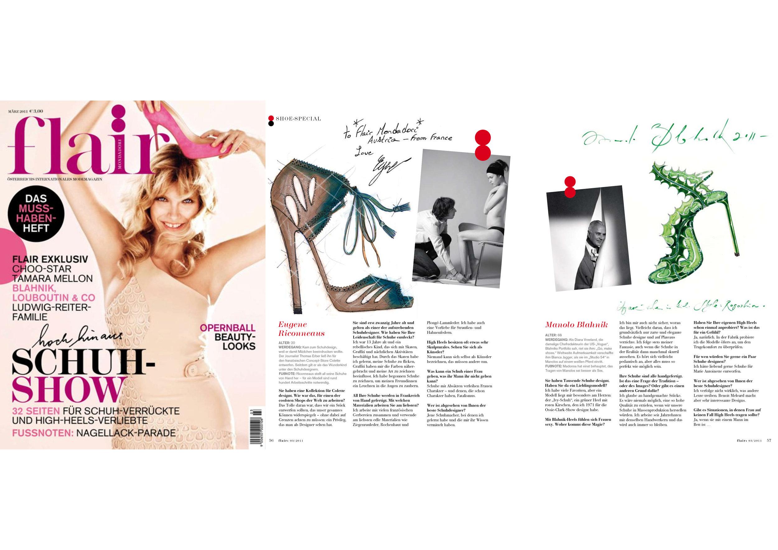 Copy of Flair Interview Eugène Riconneaus & Manolo Blahnik