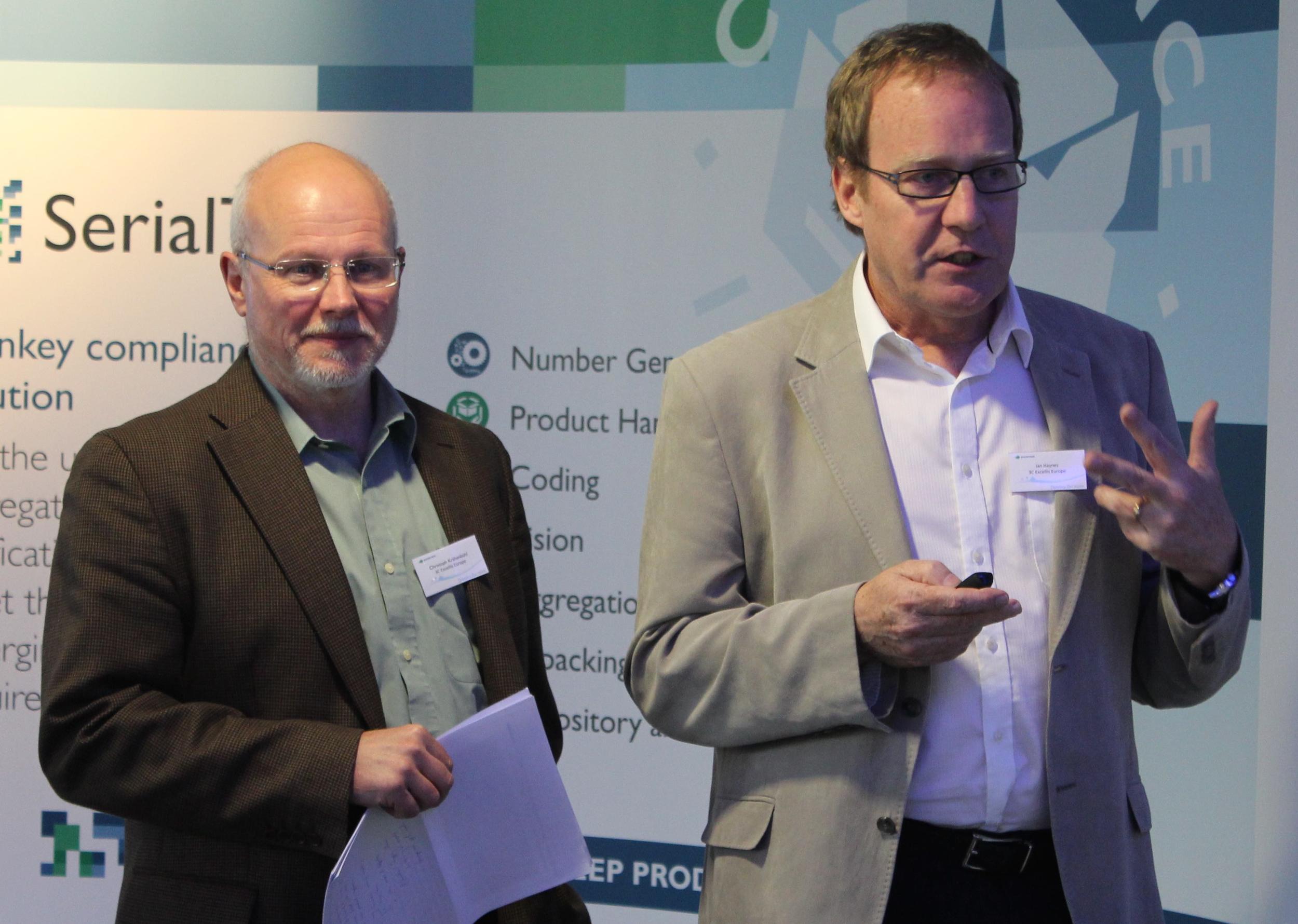 3C Innovation Director Ian Haynes and managing director Christoph Krahenbu