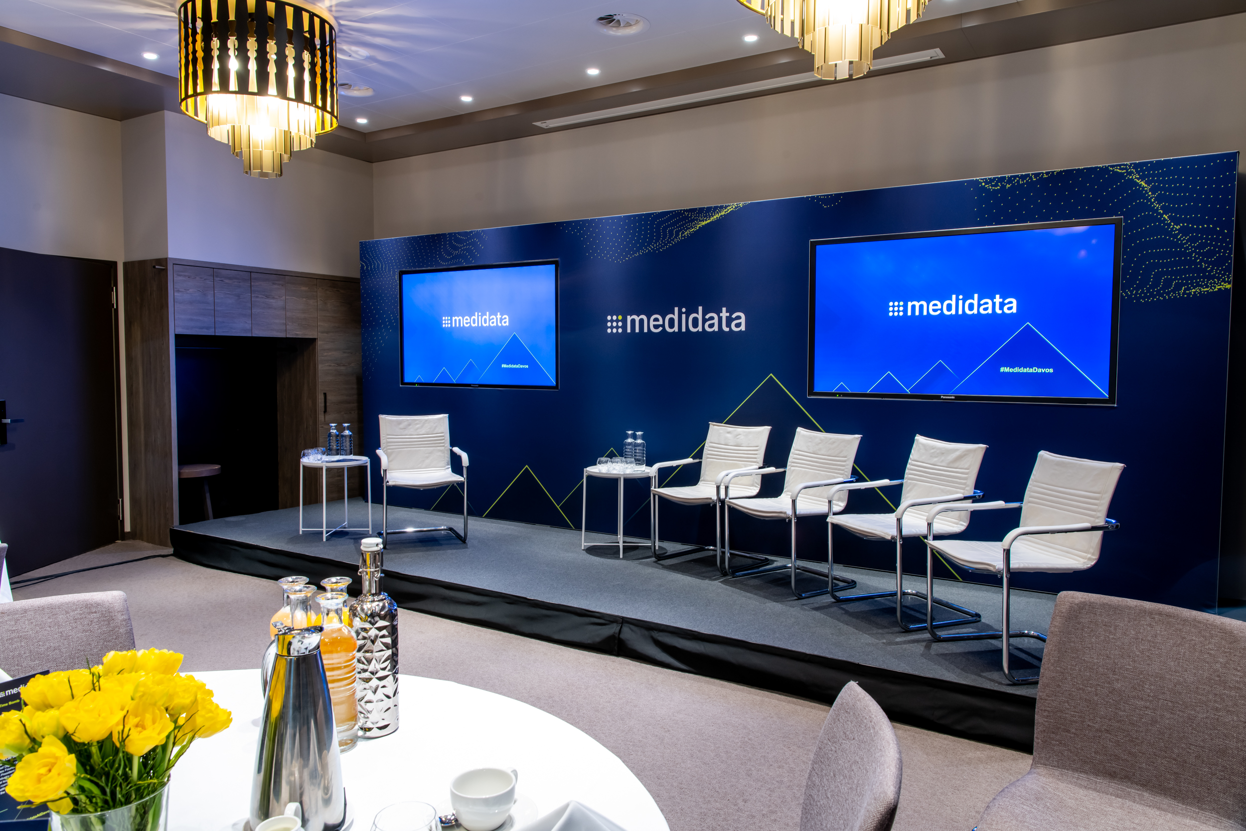"""At a Glance - OrangeDoor delivered an event for business leaders during the WEF in DavosLimited venue access meant a set up starting at 01:00am and finishing at 06:00am""""OrangeDoor's management of the whole event was truly seamless."""""""