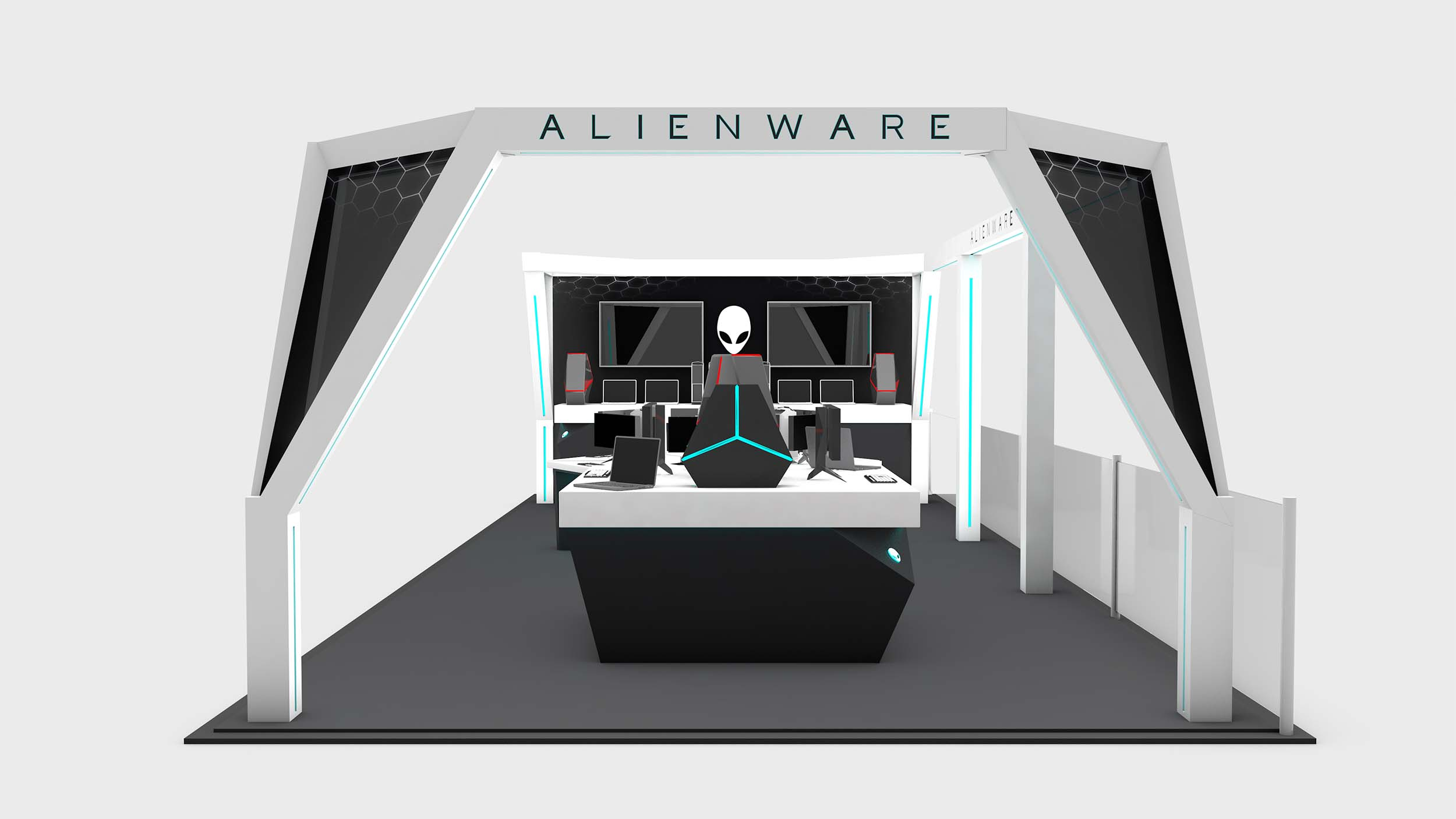At A Glance - Designed and built an expo stand for AlienwareDeployed in Oslo, NorwayFirst ever store-in-store installation in Europe