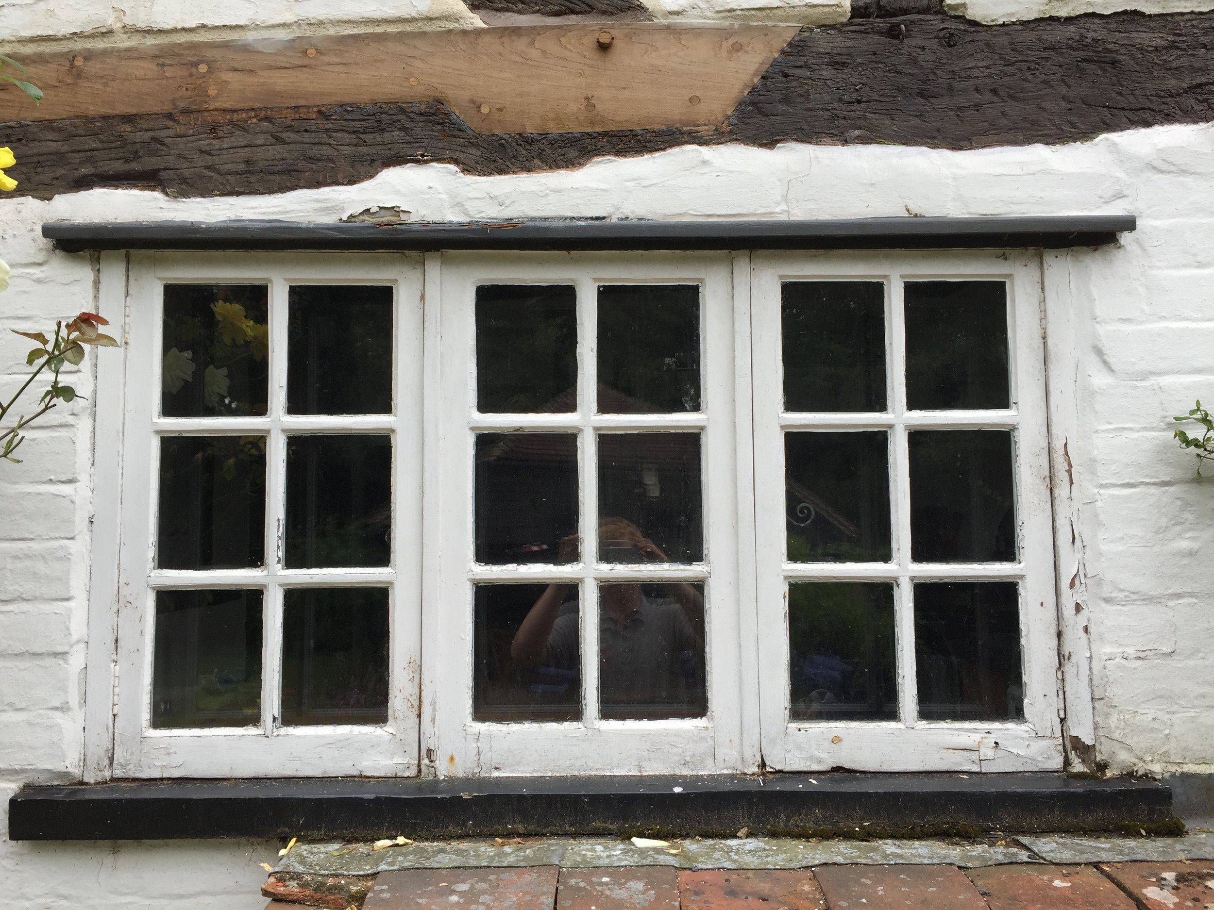 Decayed softwood window