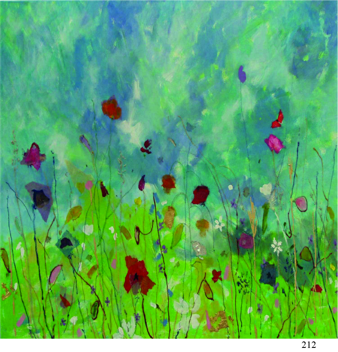 212 summer meadow Marcia Mence arty cards 6x6.jpg