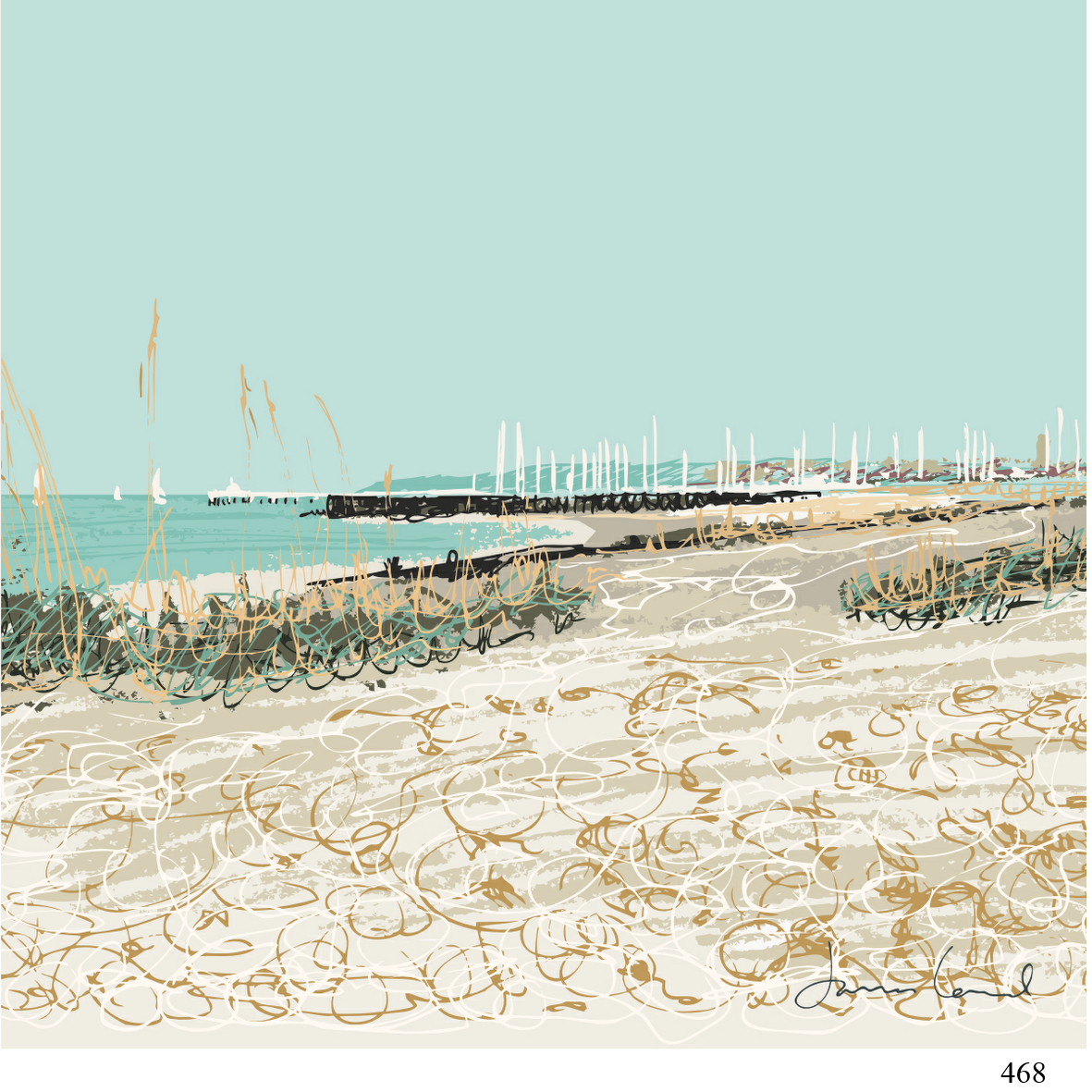 468 Sandhard Beach  james lord arty cards 6x6.jpg