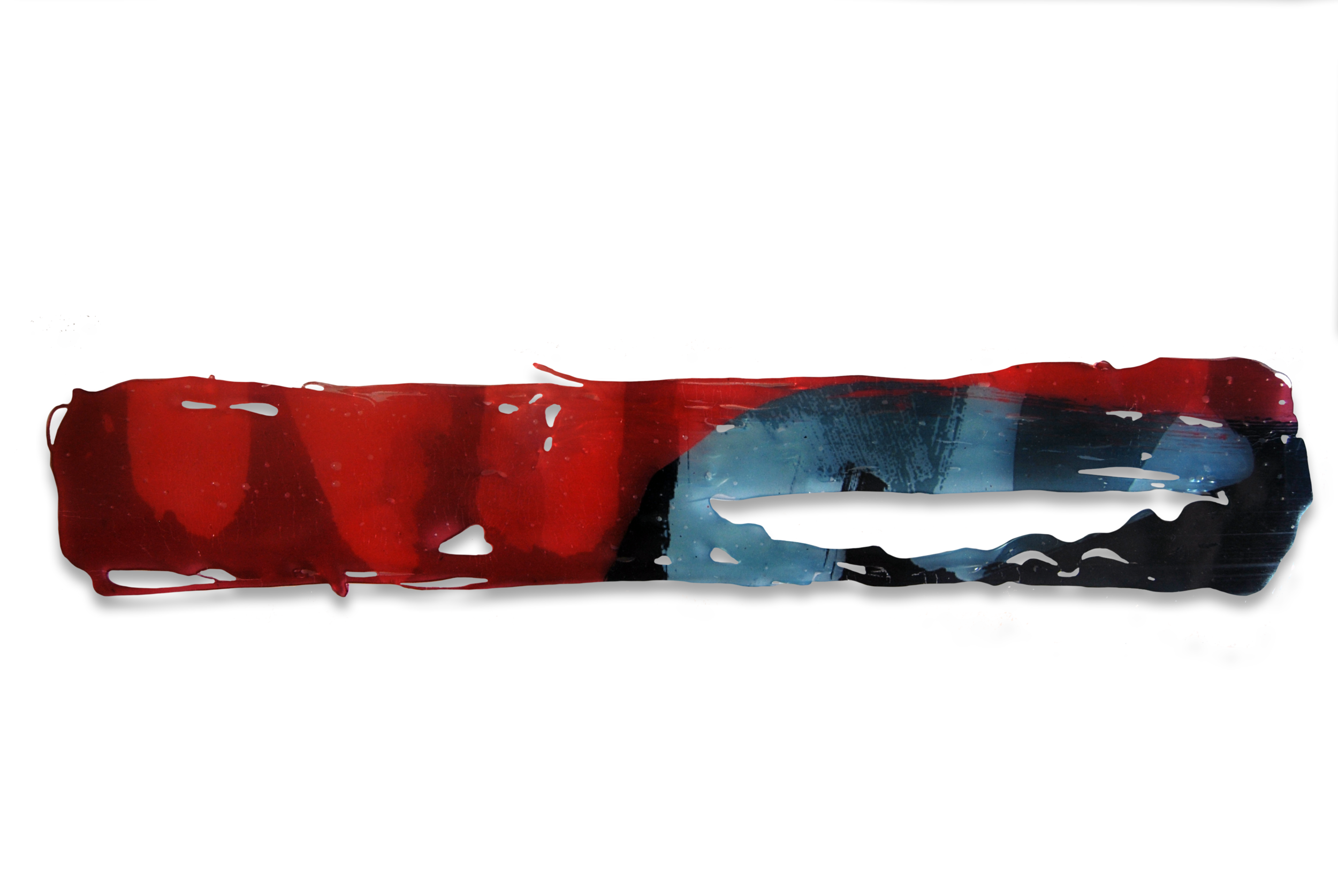 Transfer nº6, 2015, Transferencia Digital sobre cola Termofusible. 7,5 x 39 cm