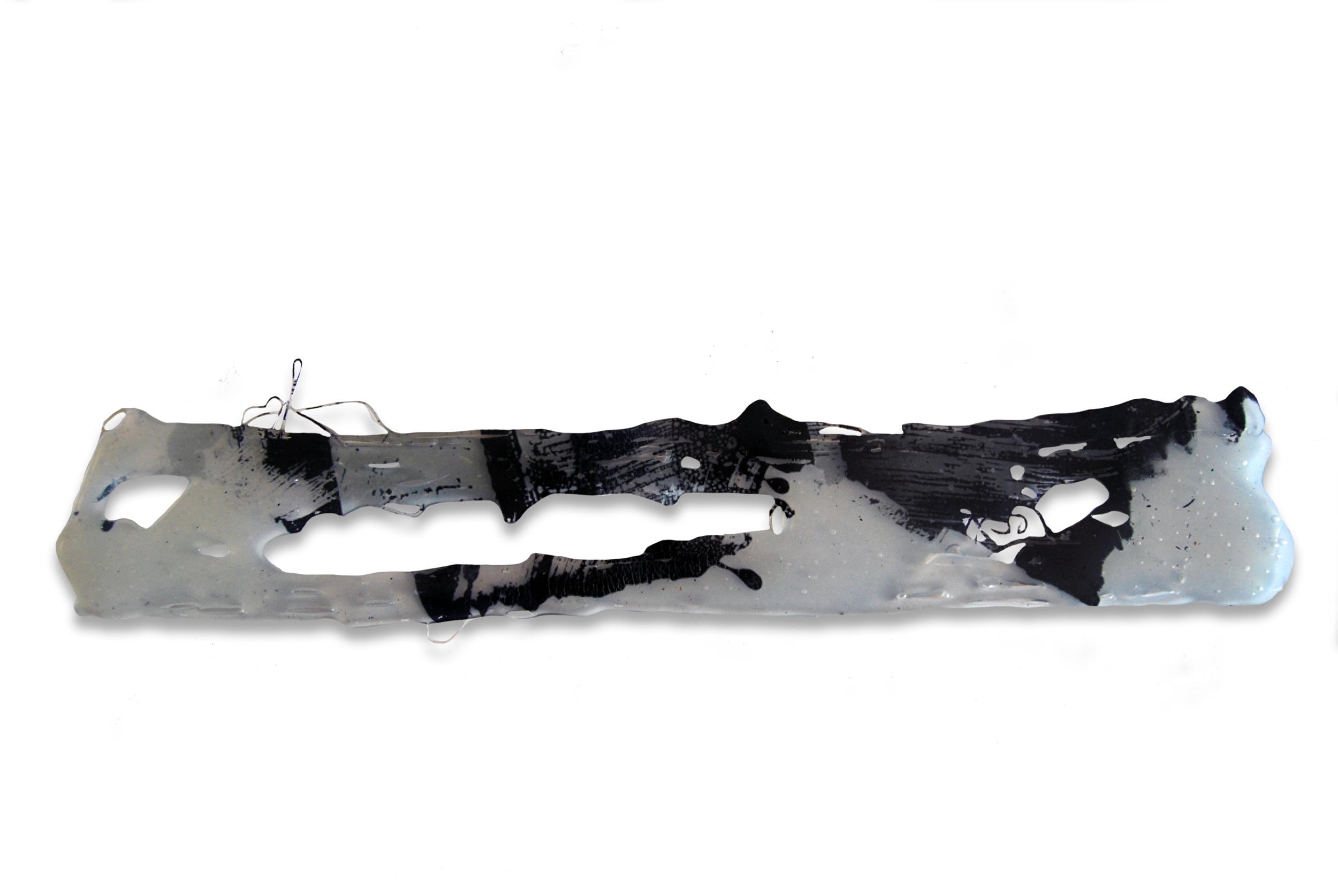 Transfer nº7, 2015, Transferencia Digital sobre cola Termofusible. 7 x 39 cm