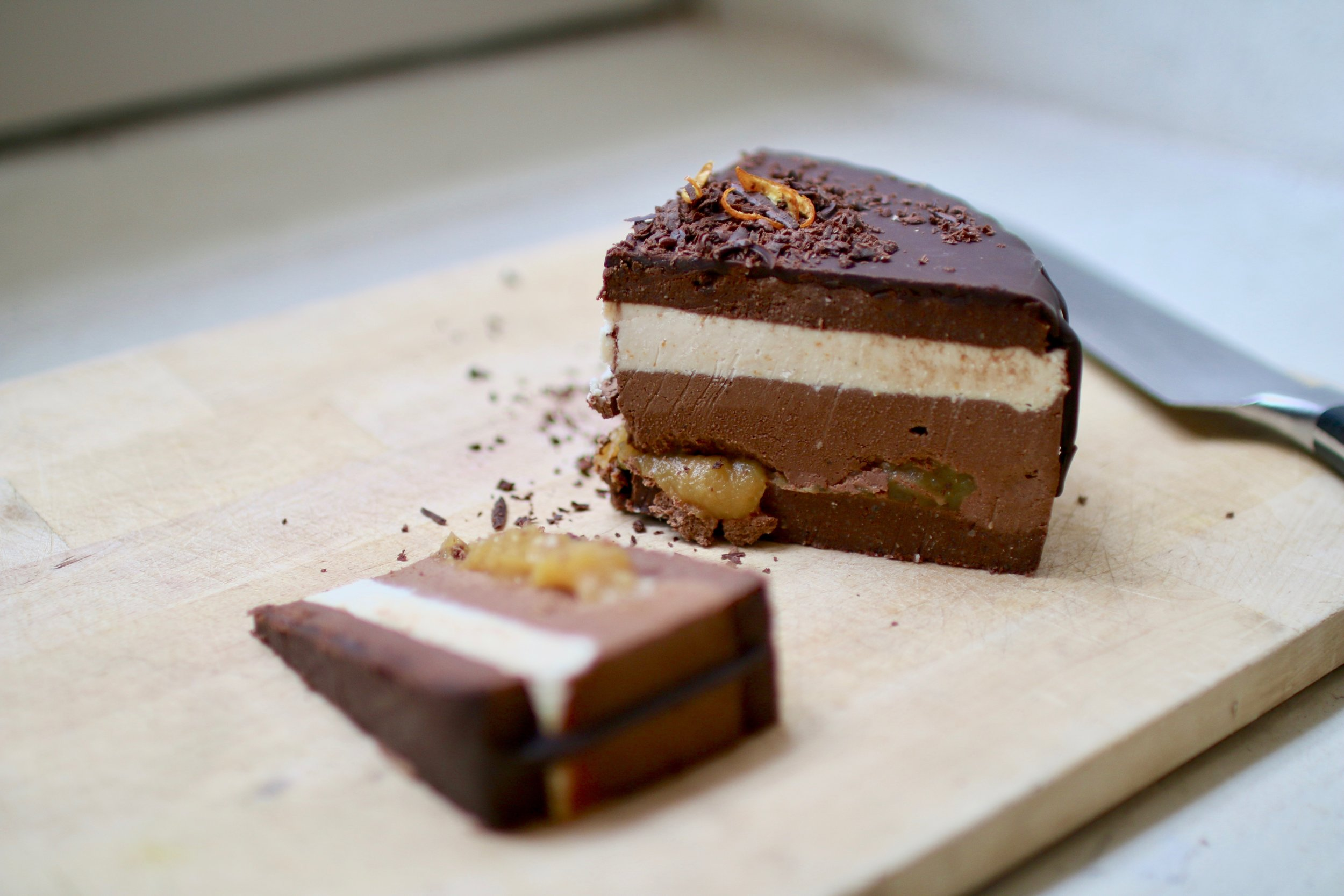 Double chocolate raw jaffa torte