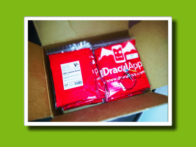 DraculApp FAshion T-shirt<br>-Company Branding-<strong>Marketing</strong>