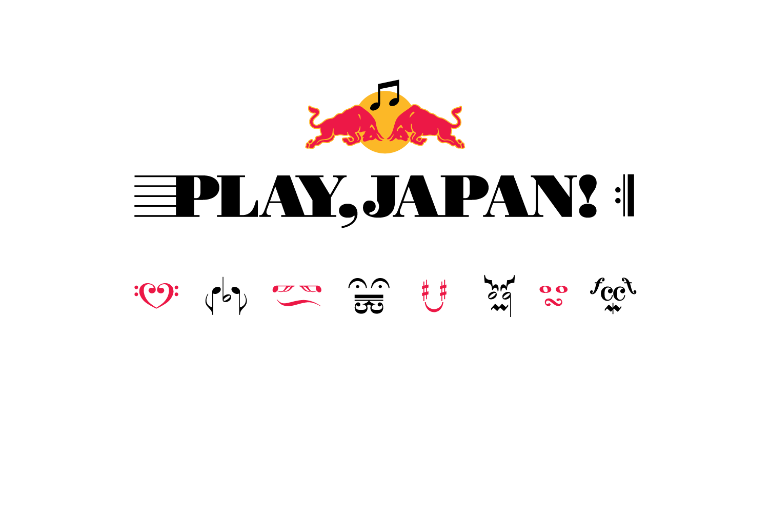 Music free paper from the Red Bull Music Academy. The logotype takes its cues from classic musical notation, which is extended further in the creation of supporting characters that are interjected throughout.