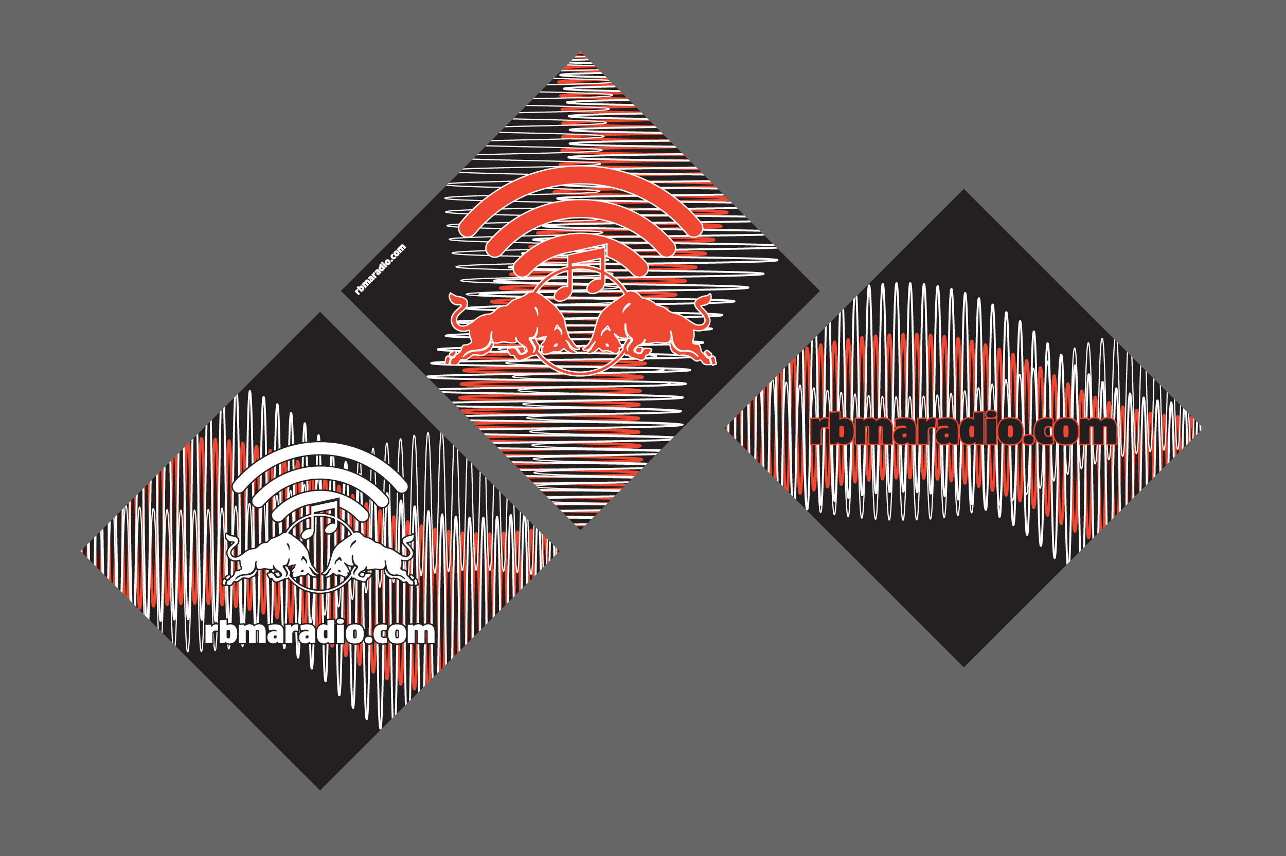 Sticker designs for Red Bull Music Academy Radio