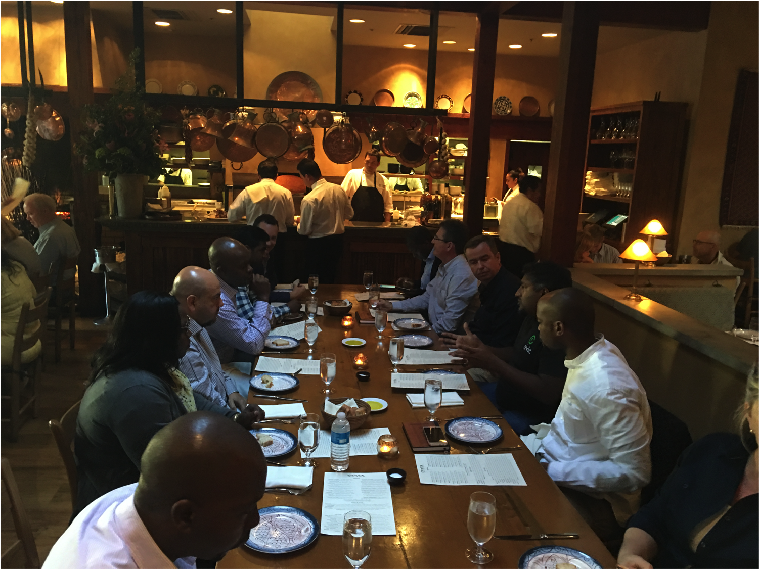 Dinner with Vinny Lingham, co-founder and CEO of Civic.com.