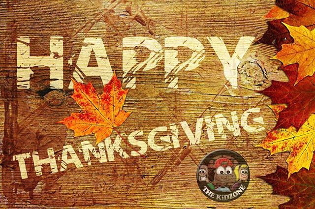 Happy Thanksgiving to our amazing KiDZONE families, our outstanding team, and our wonderful supporters. Reminder there is no site today at Country Hills. Centreville-Chicopee and Victoria Hills we will see you tomorrow and Thursday. #KiDZONEkw #SoThankful