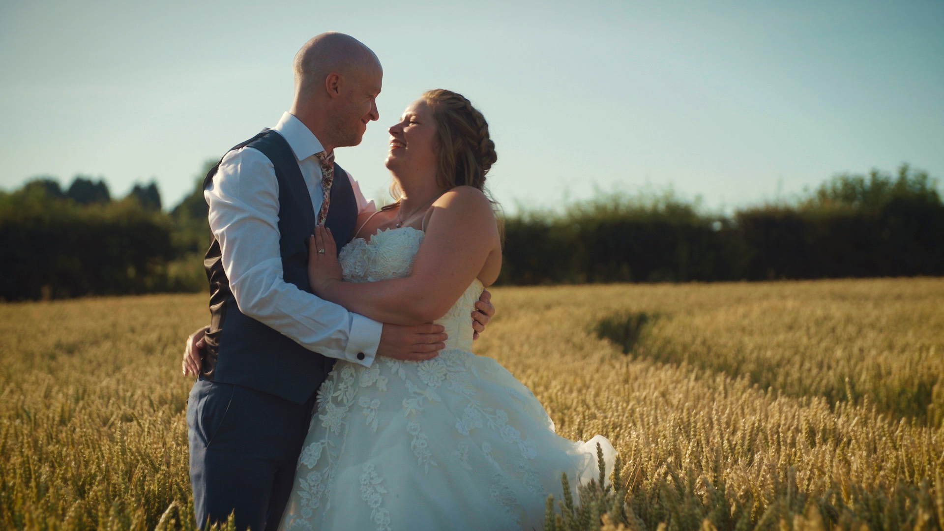 """Terri & Paul - """"Thank you so much for our wedding video. It's perfect, you captured all the moments we near saw from people chatting, kids playing and people eating all the doughnuts. It was beautifully edited and we appreciate all your hard work."""""""
