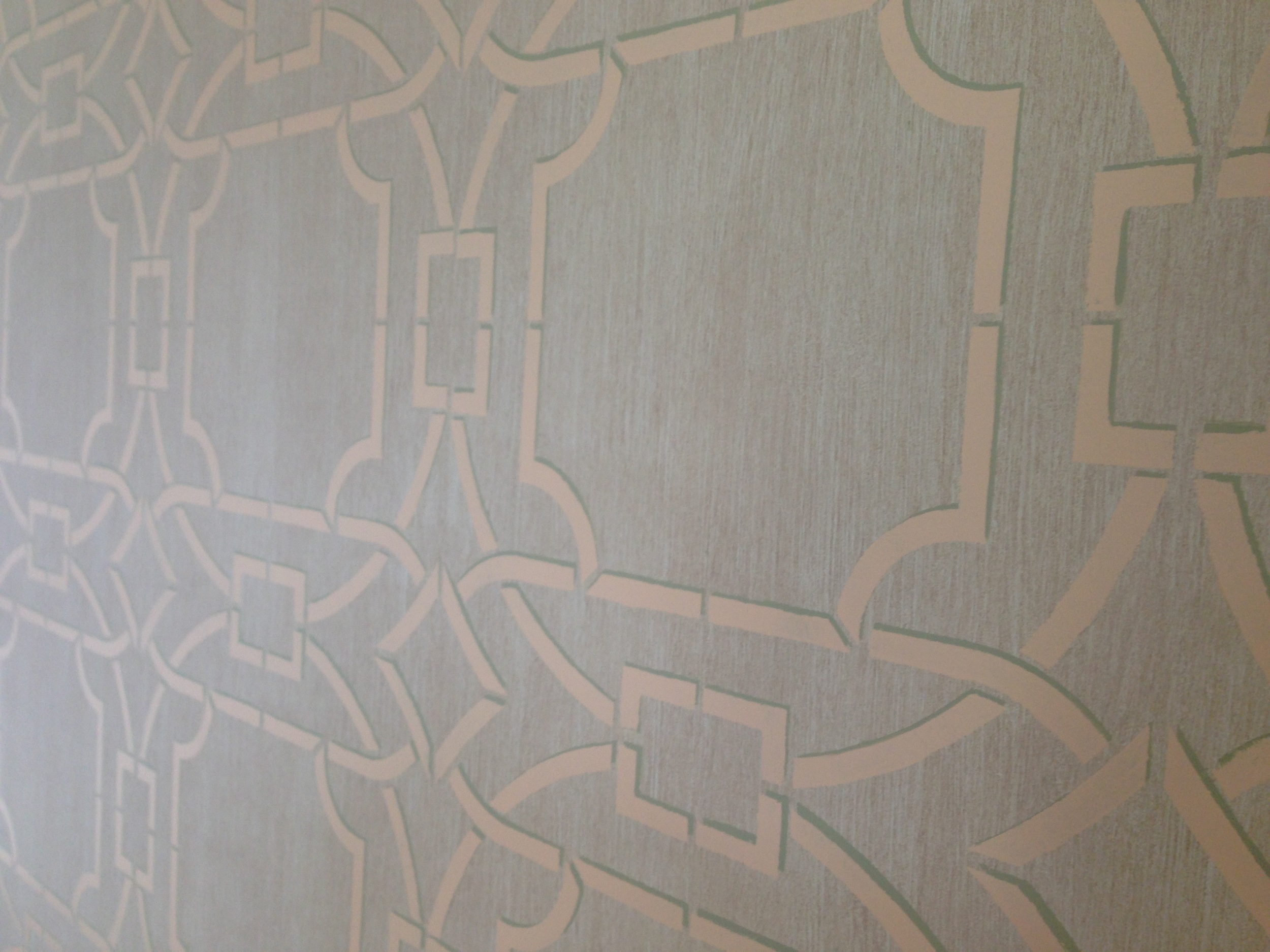 Detail of the wall finish