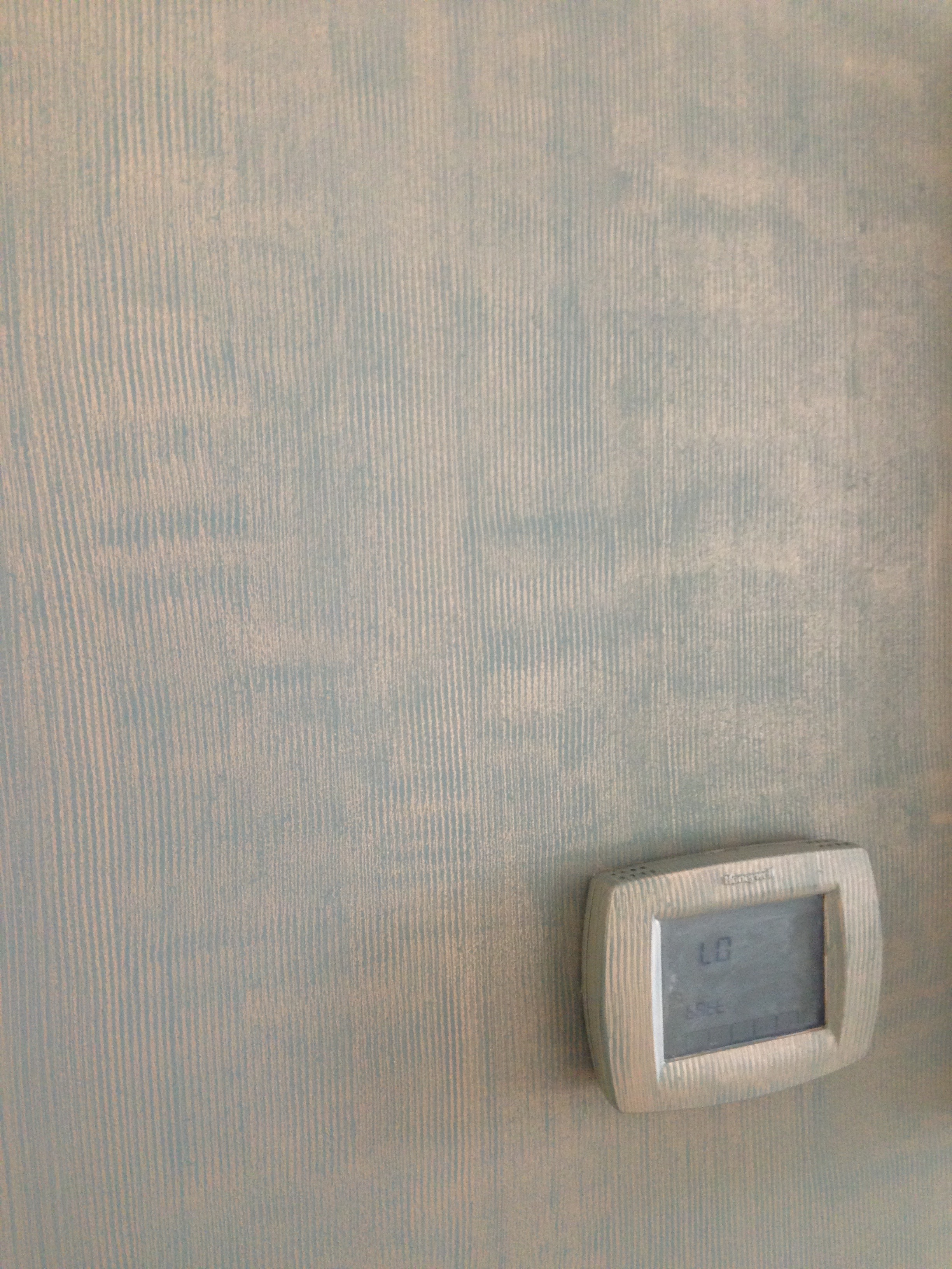 Detail of the dining room wall finish