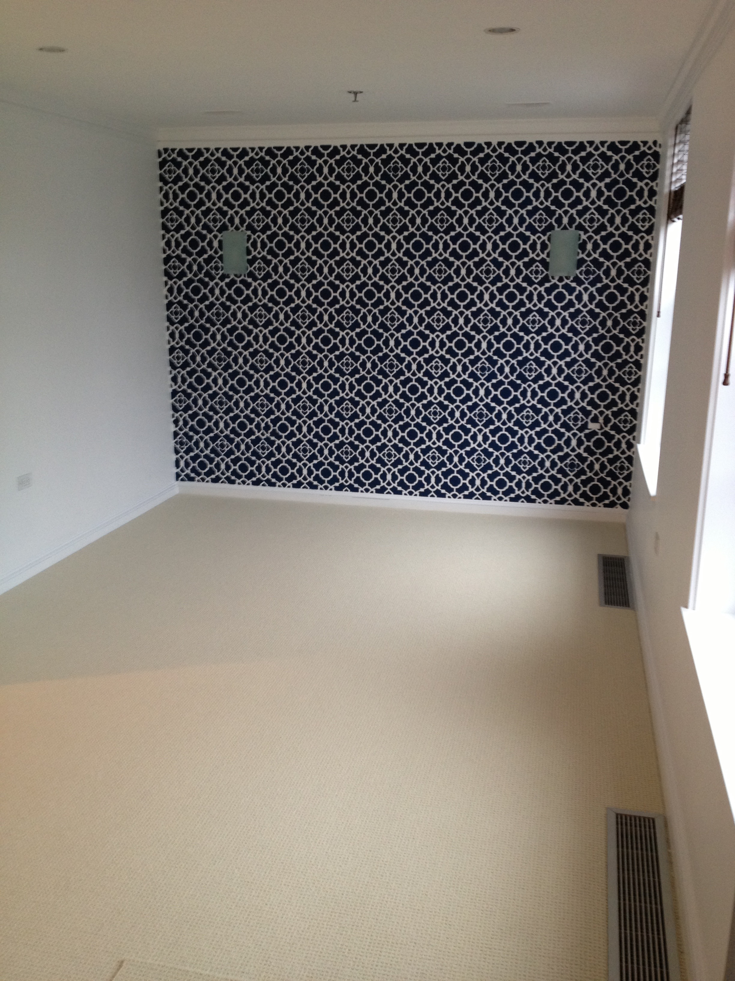 Somerville loft- bedroom accent wall