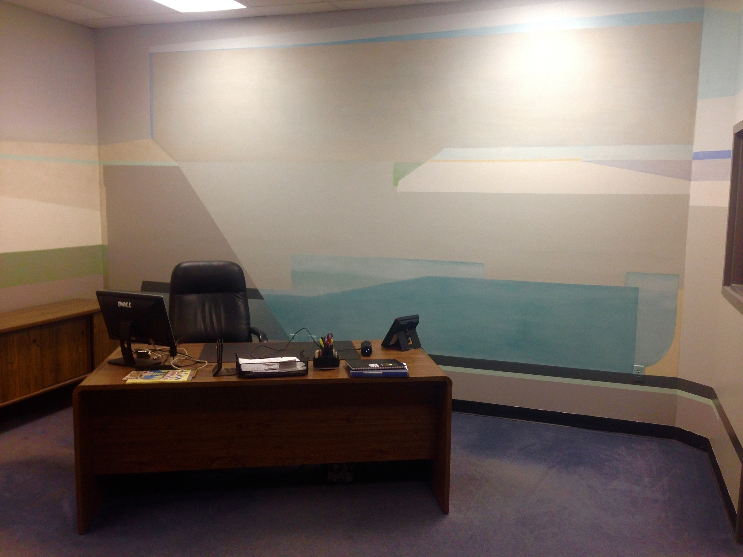 Office space in Norwood - front desk area