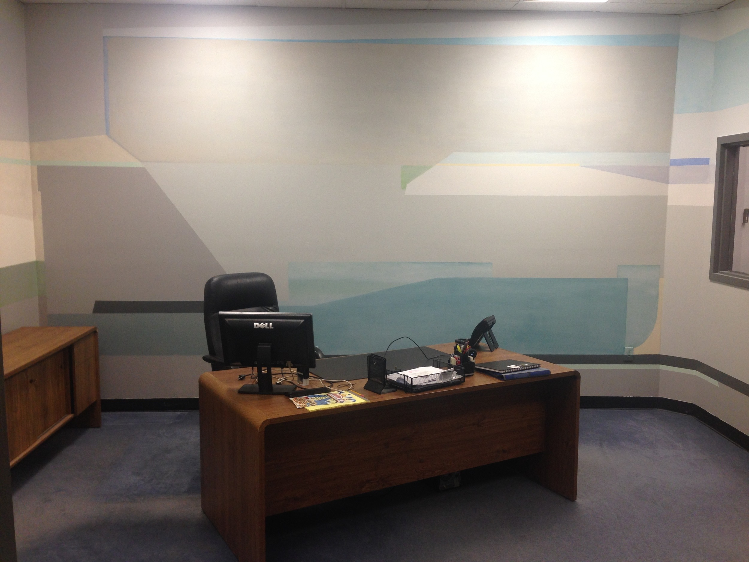 Contemporary abstract mural -another view