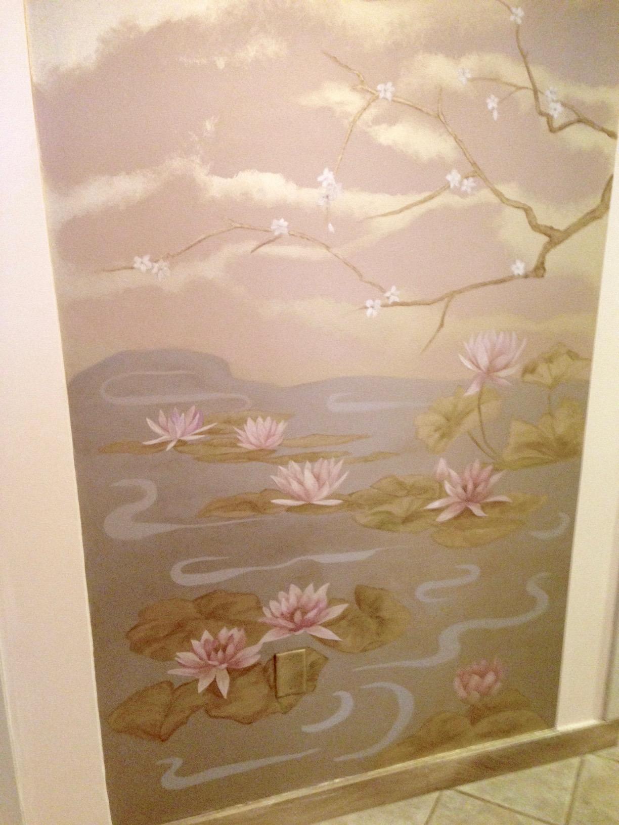 Shambala Spa Japaneese mural - details