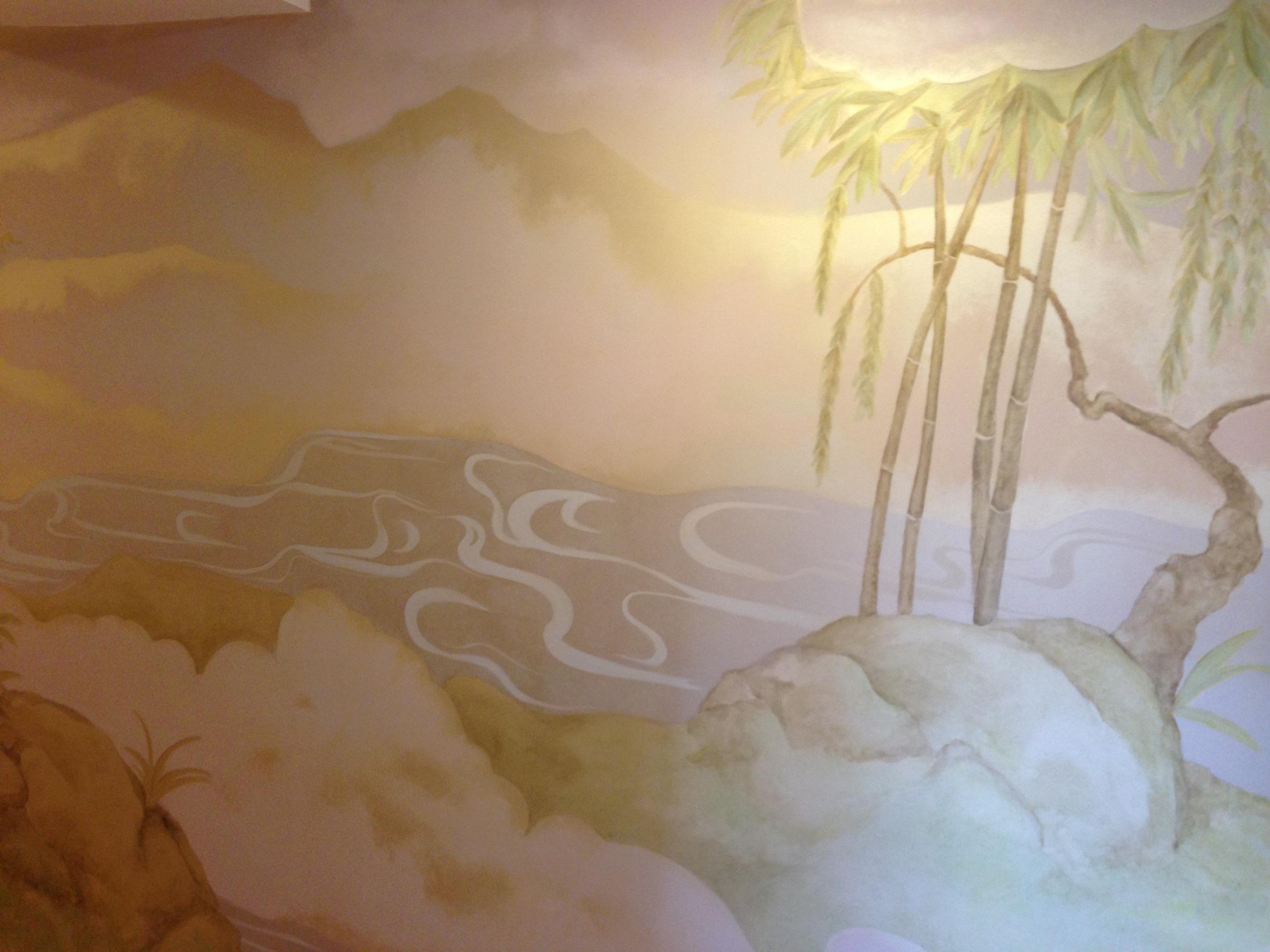 Shambala Spa Japaneese mural