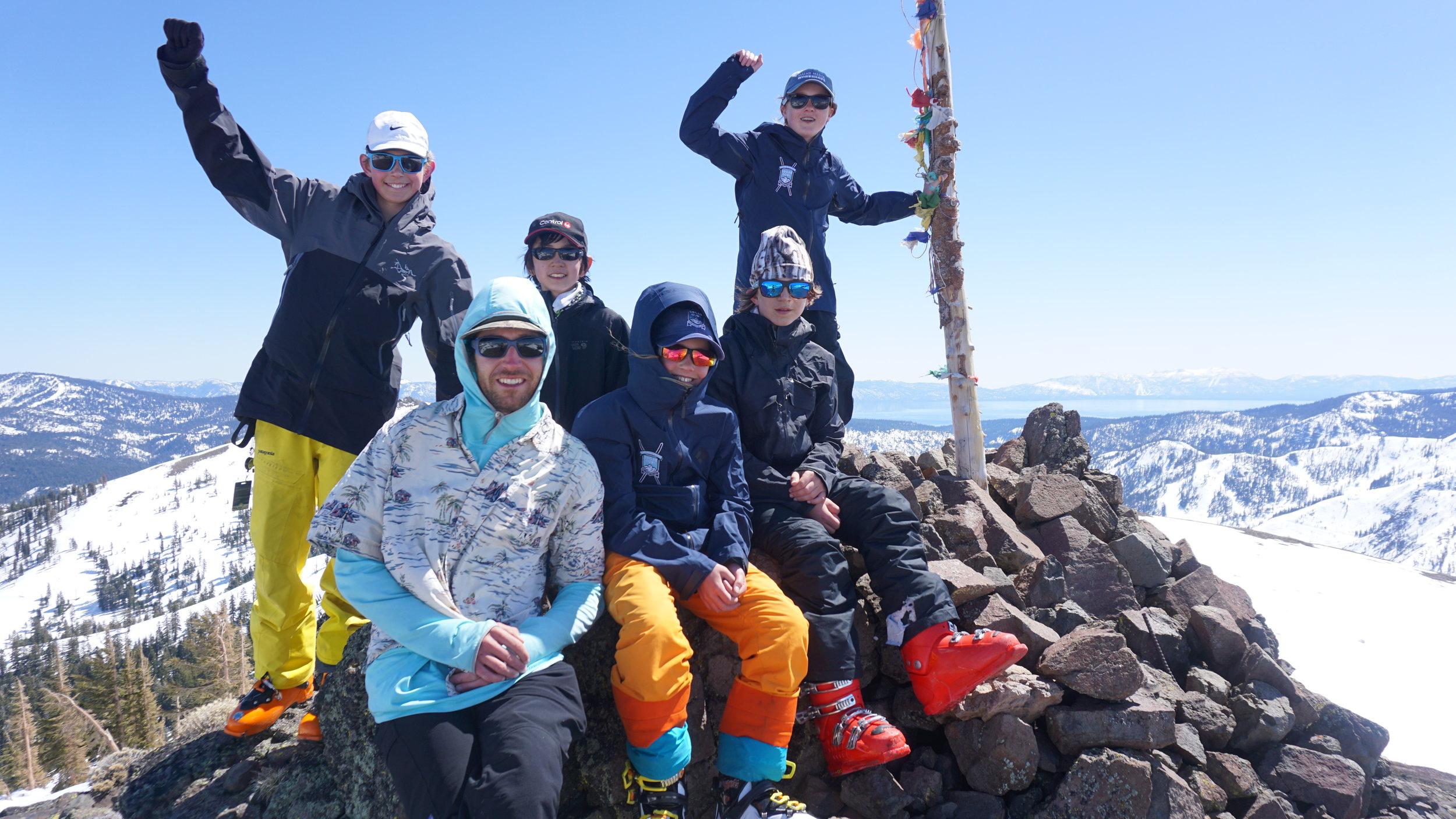 Top of ESki Peak headed to Squaw