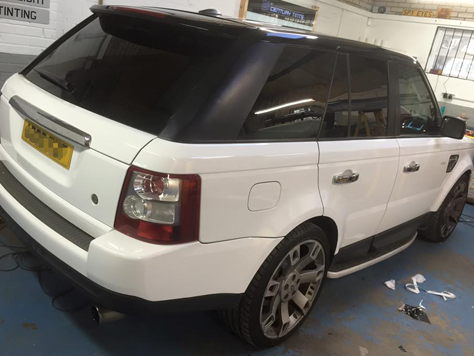 Vehicle Colour Change Silver to White
