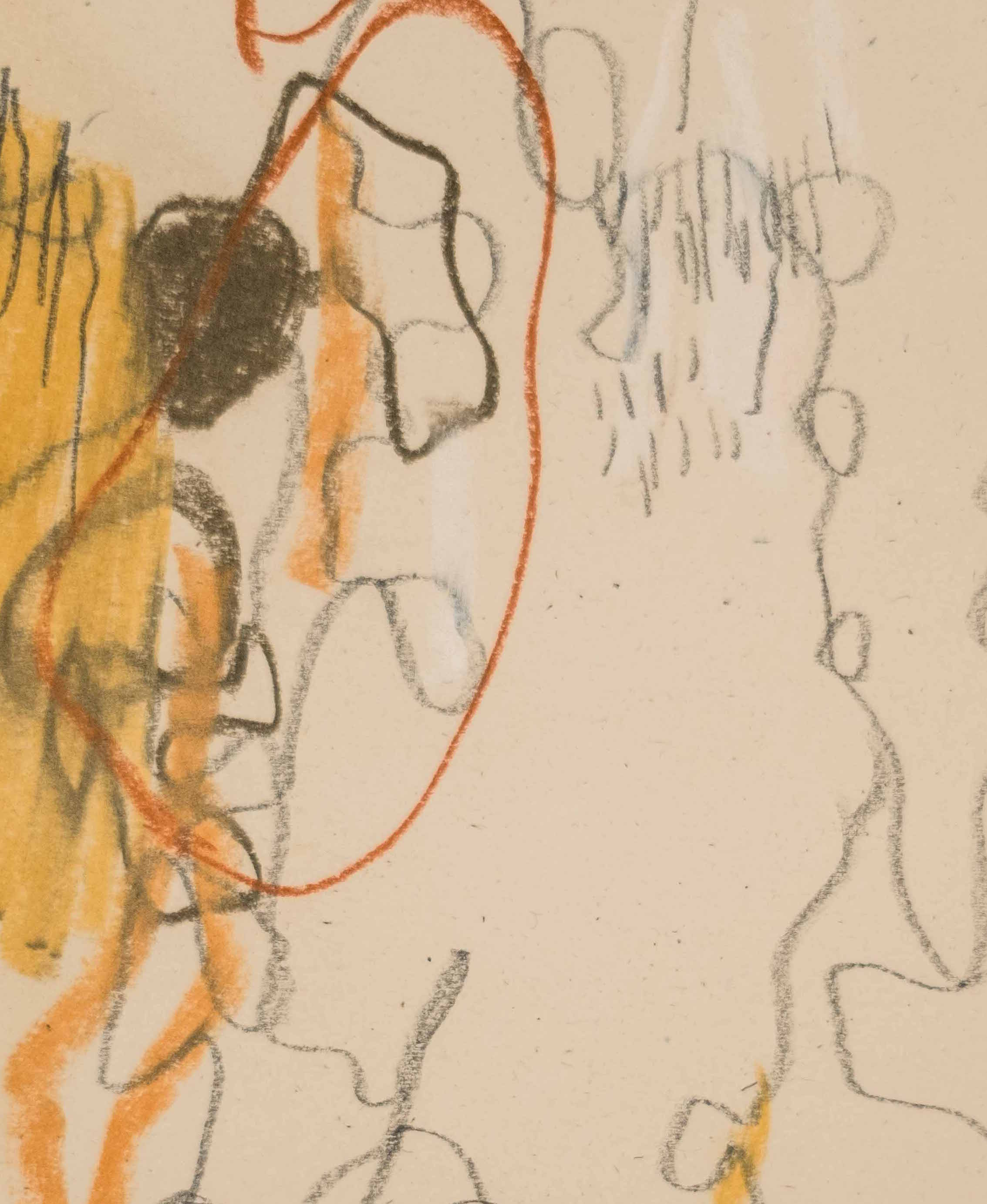 "Hold Fast (Detail) / 8.5"" x 11"" / graphite and chalk pastel on paper"