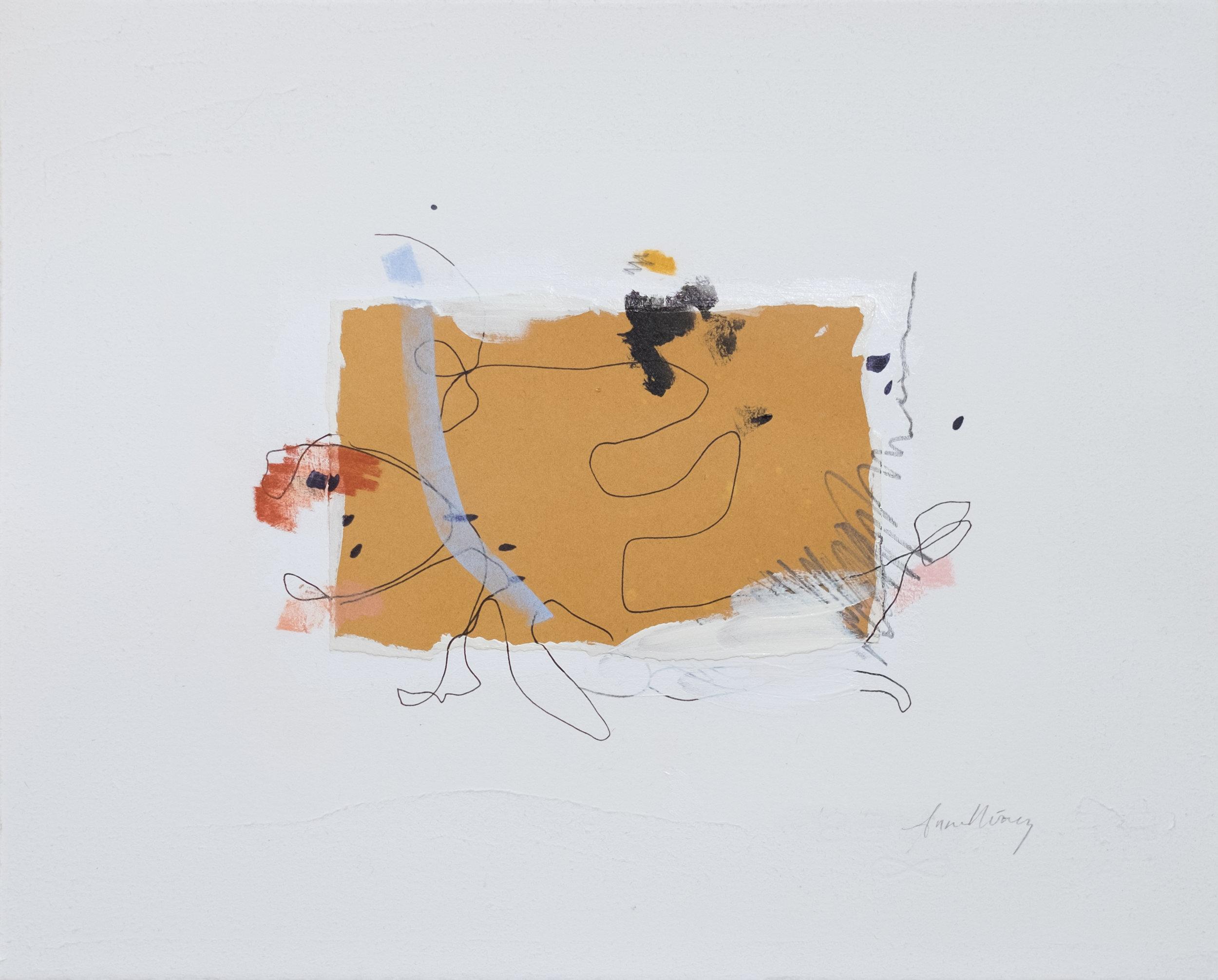 """Able / 11"""" x 14"""" / gesso, paper, acrylic paint, graphite, chalk pastel on cotton paper"""