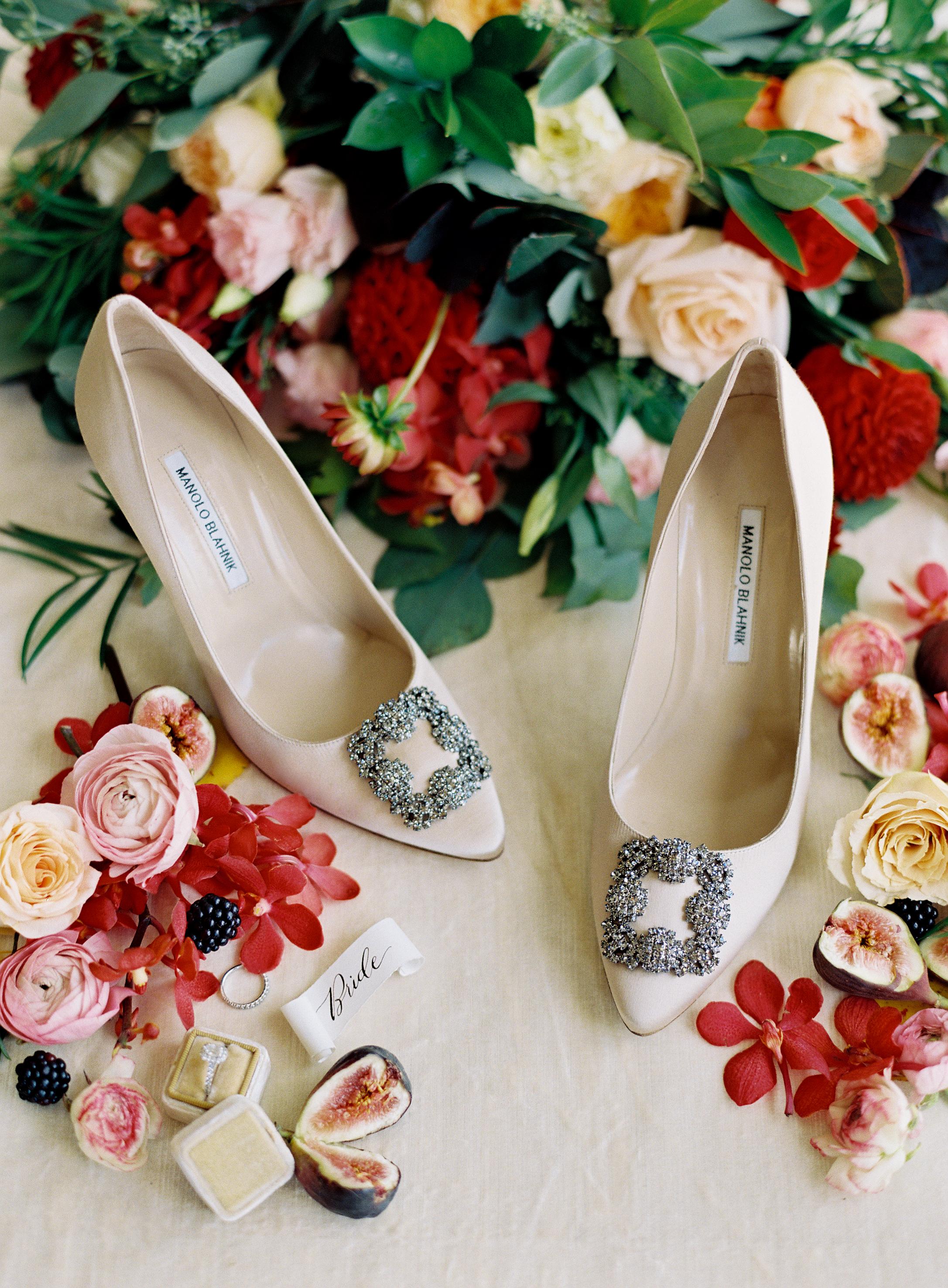 Intimate Luxury Mountain Wedding | Manolo Blahnik Wedding Shoes