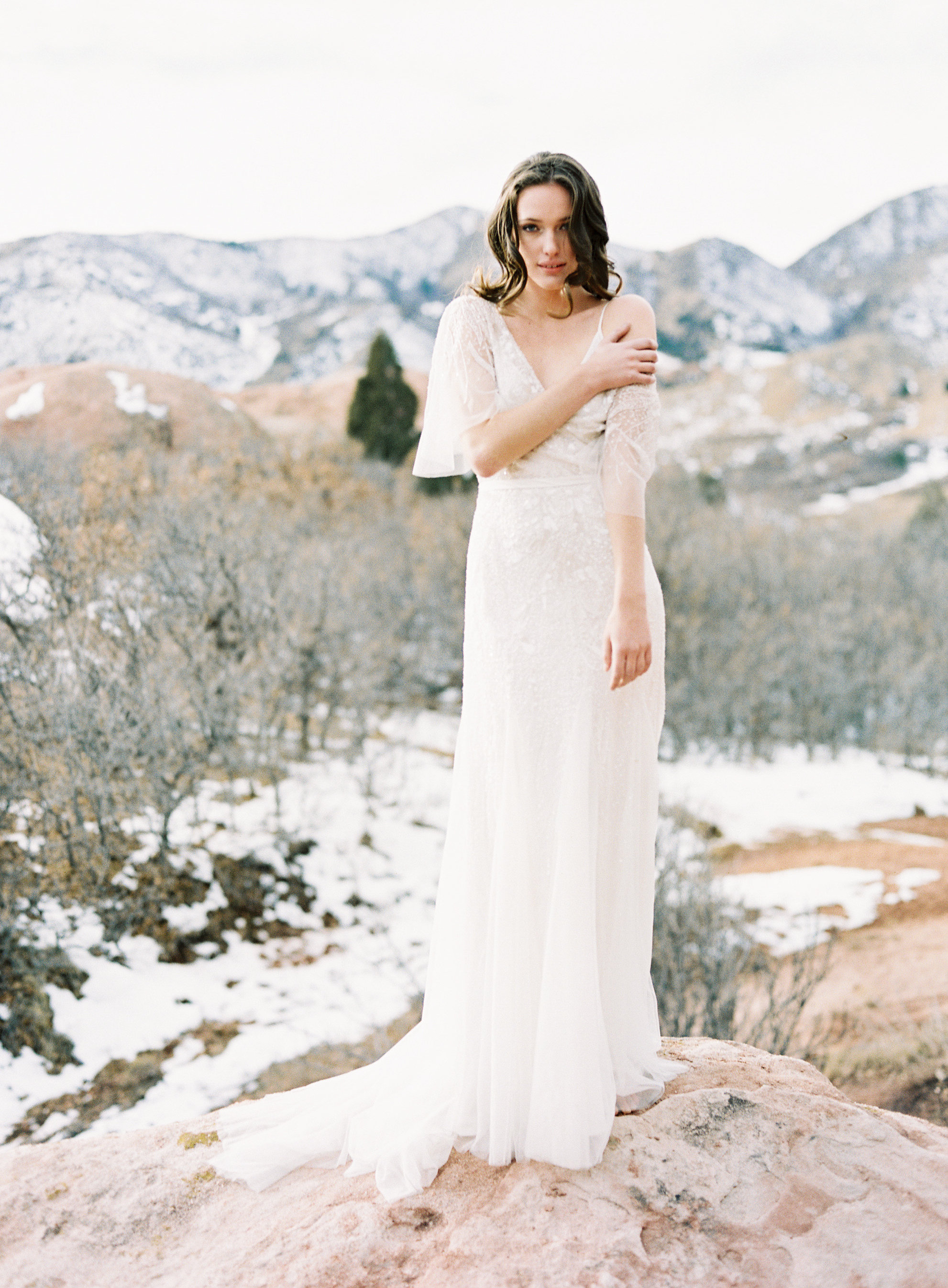Winter bridal portraits