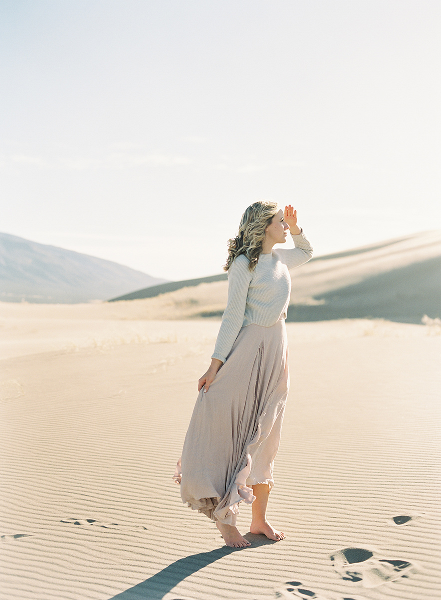 flowy dress in colorado on film