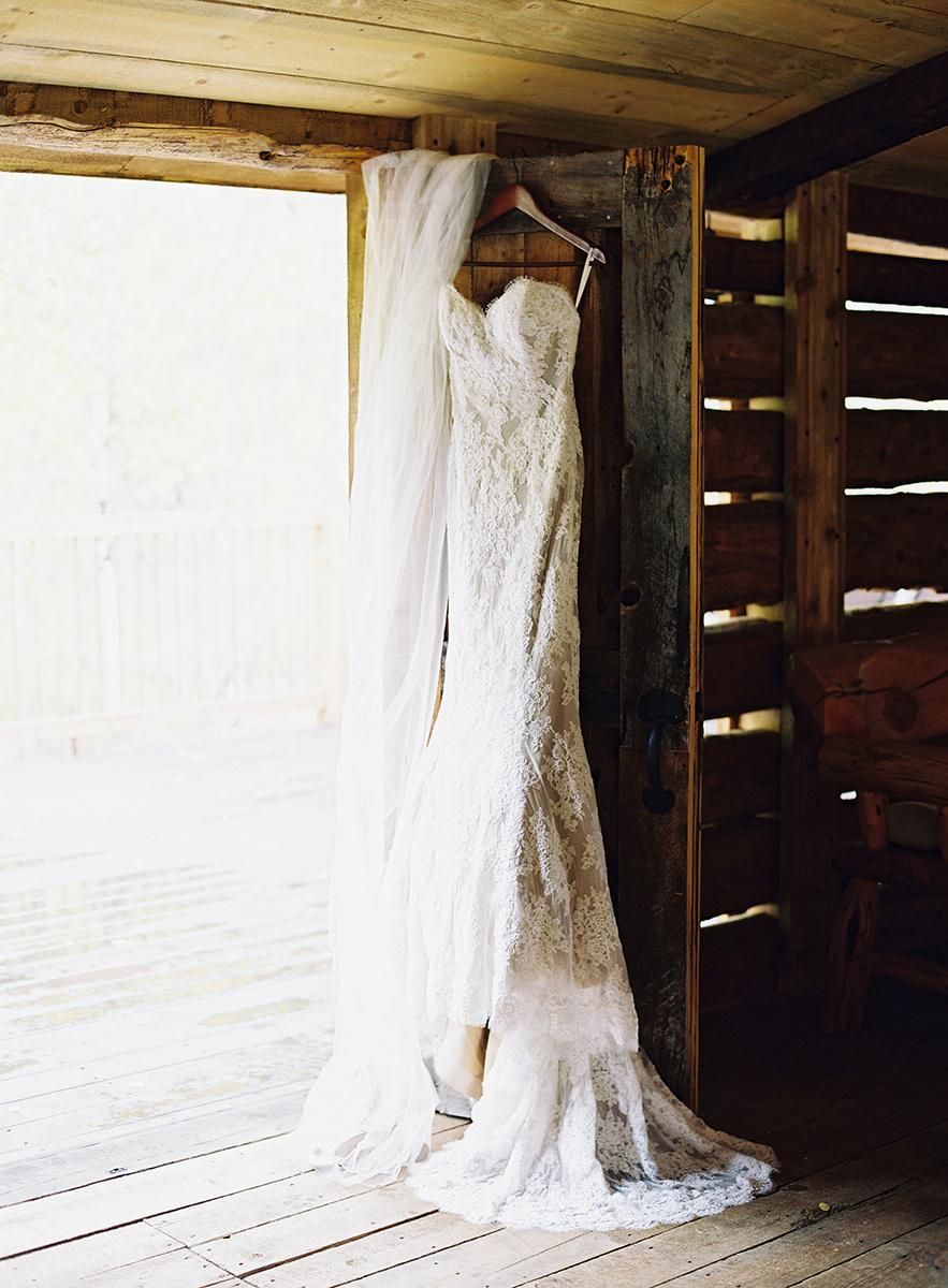 Wedding Dress at Wild Canyon Ranch on Film