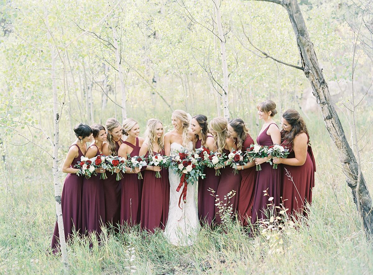 Bridesmaids in Aspens on Film