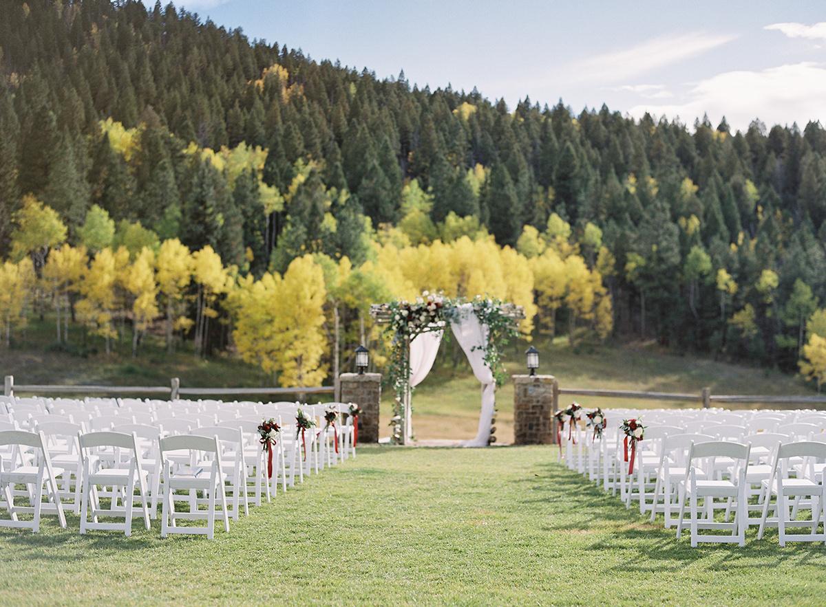 Wedding Ceremony with Aspen Backdrop