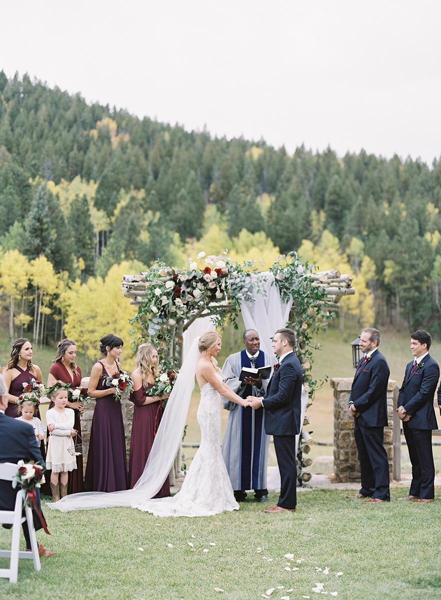 Colorado Fall Wedding Ceremony on Film