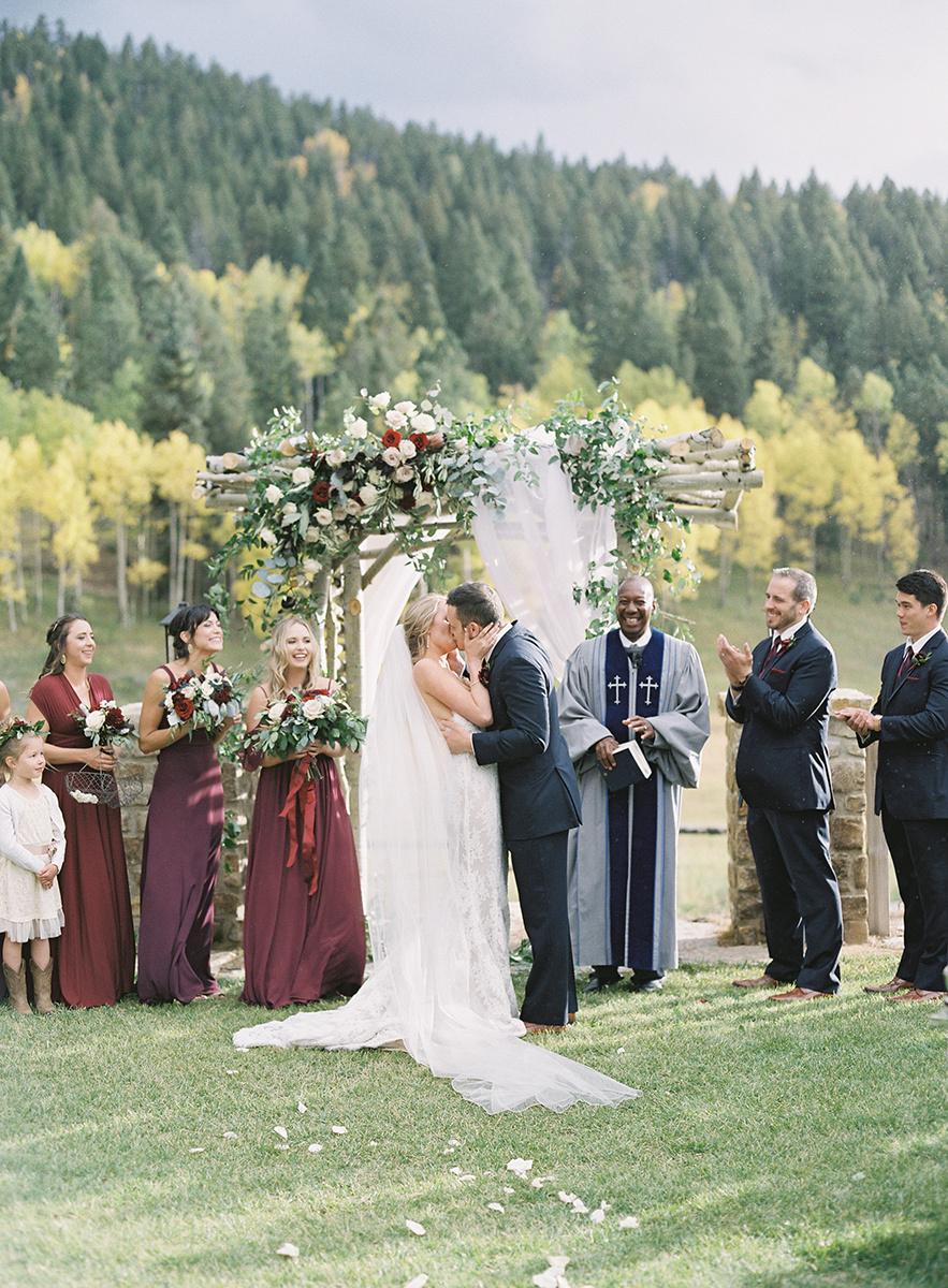 Rainy Fall Wedding in Colorado on Film