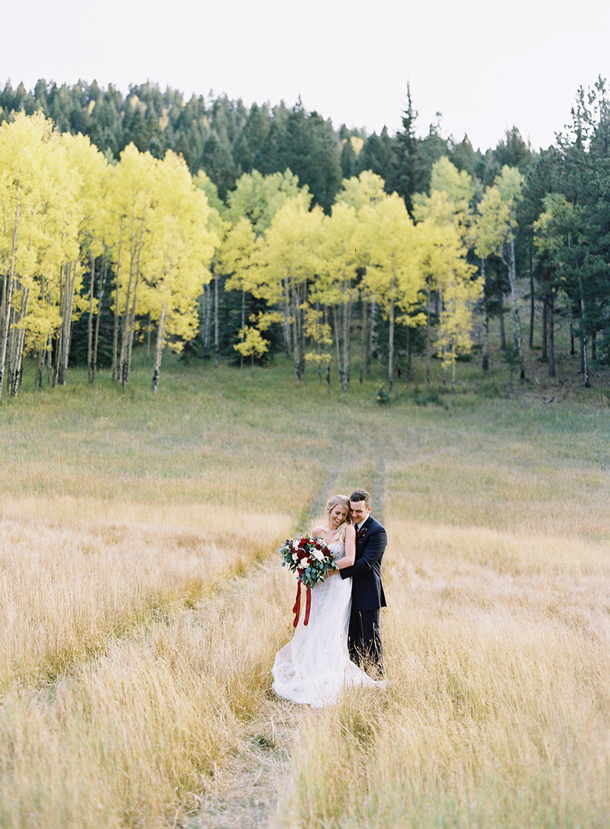 Gorgeous Aspen Backdrop for Bride and Groom