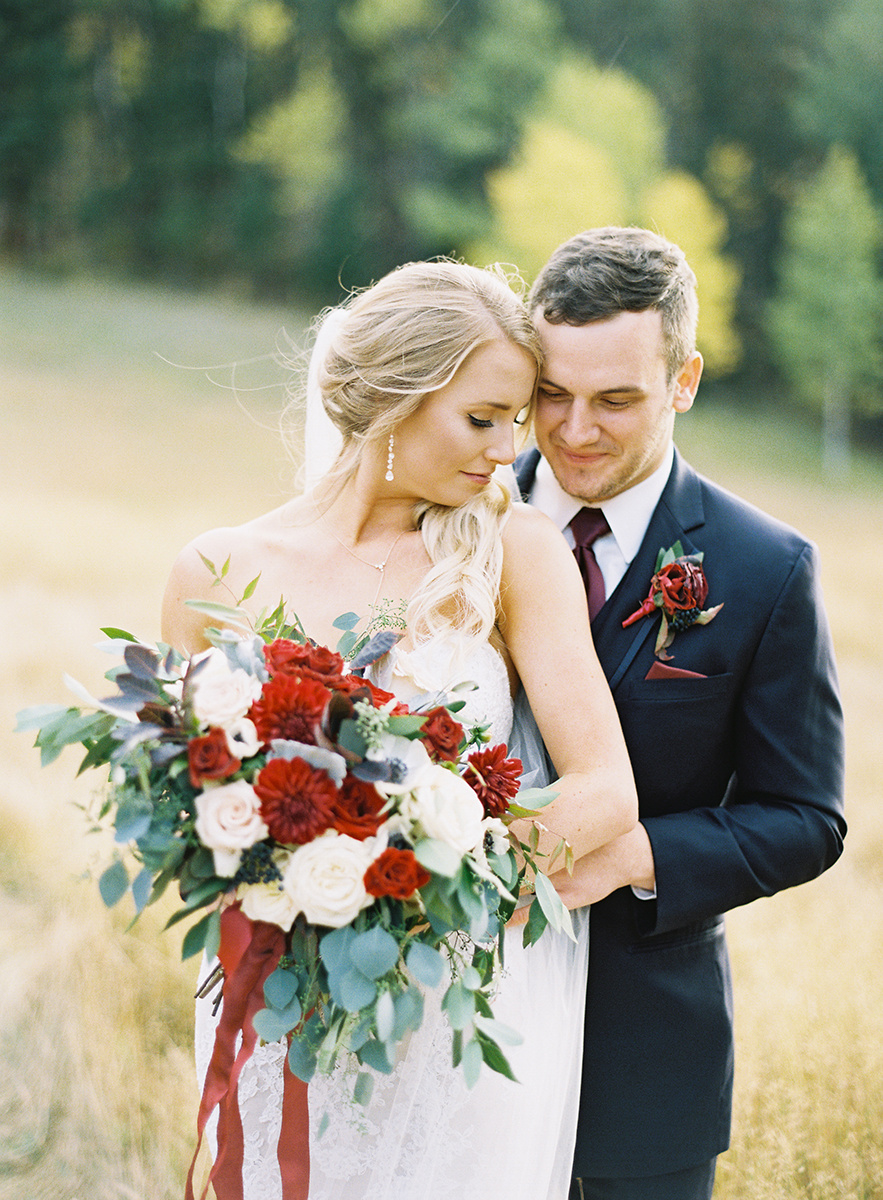 Colorado Fall Bride and Groom on Film