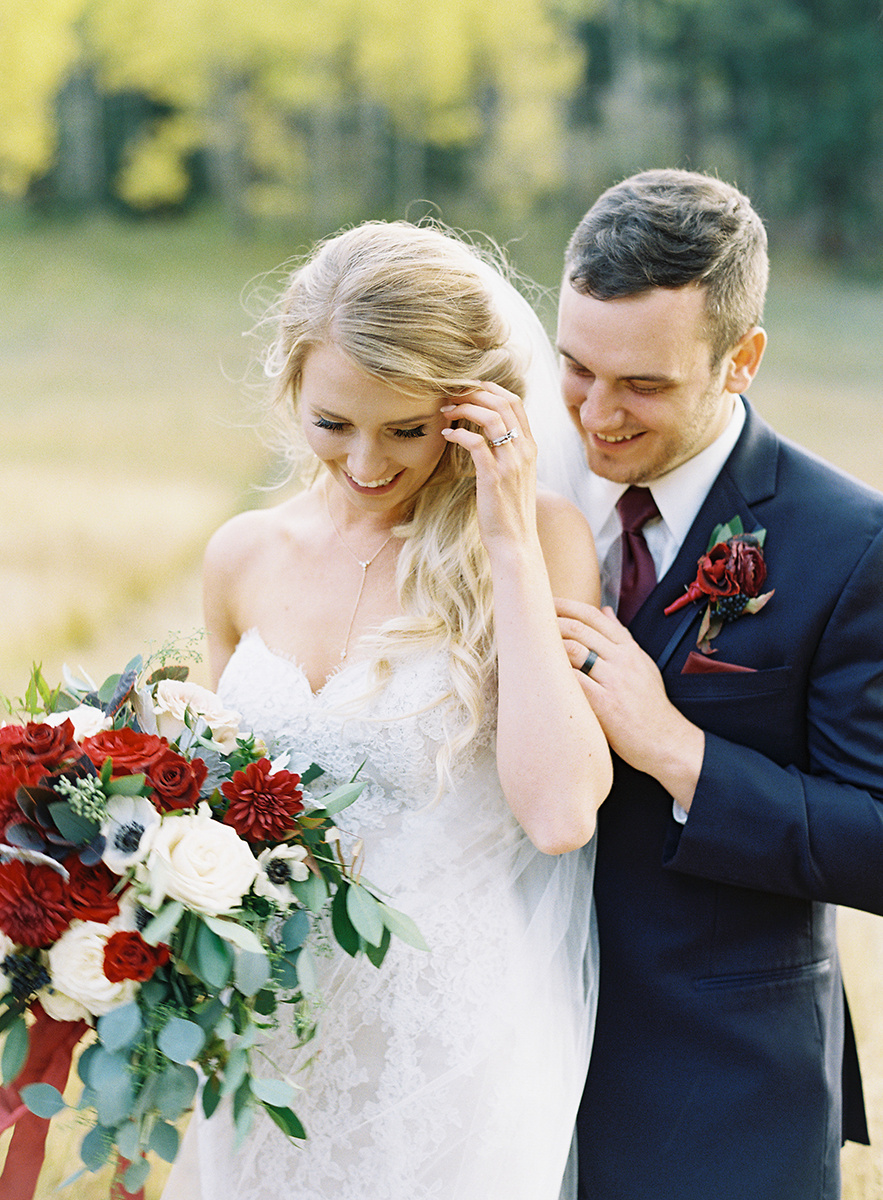 Fall Bride and Groom on Film