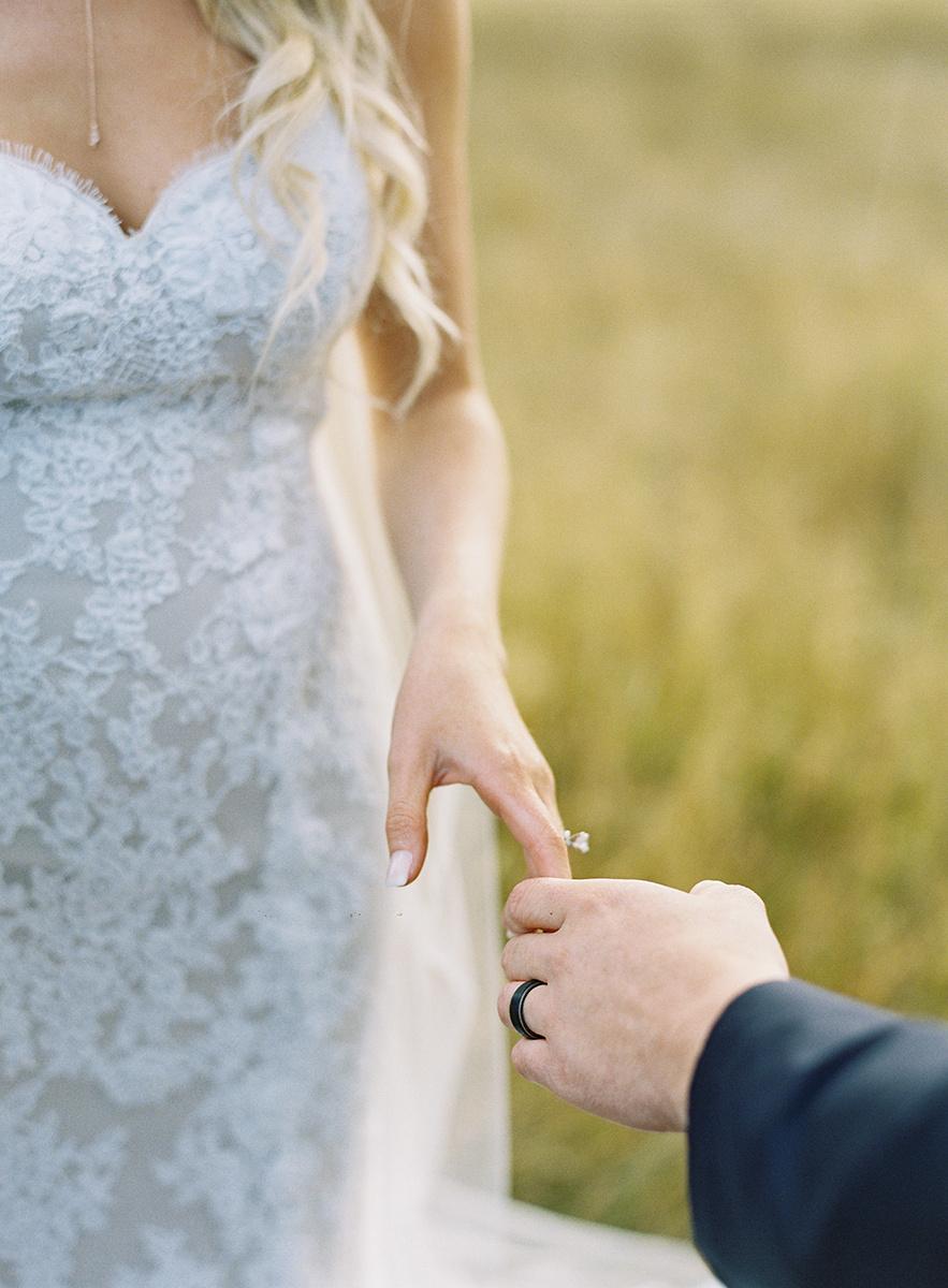 Bride and Groom Rings on Film
