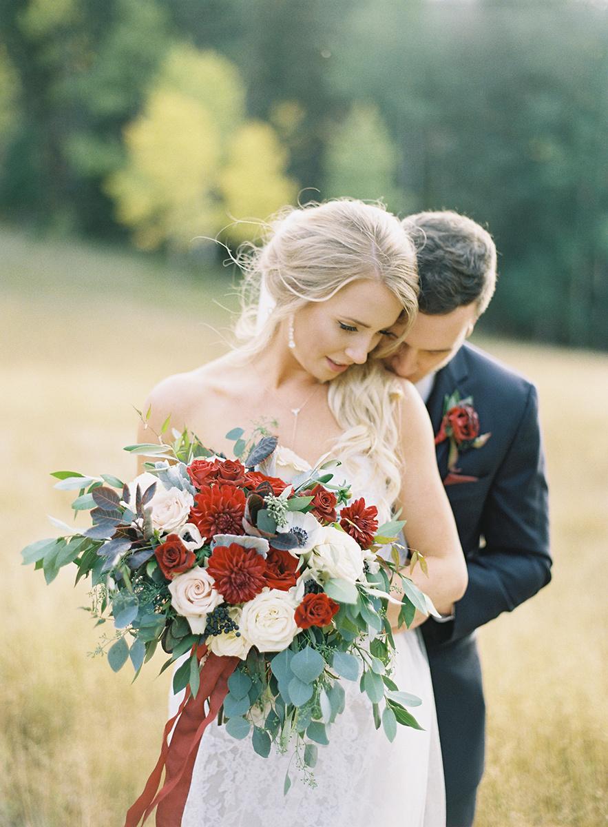 Romantic Colorado Bride and Groom on Film