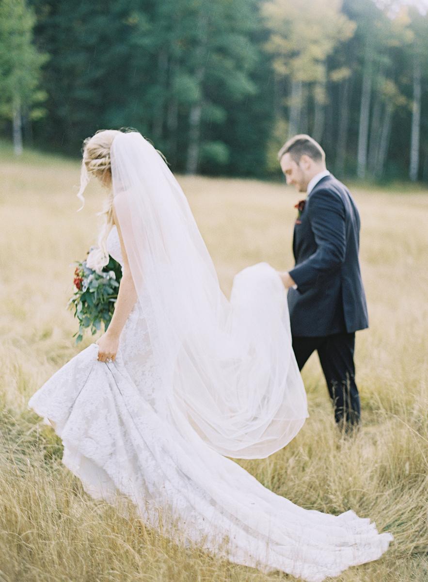 Romantic Colorado Fall Wedding on Film