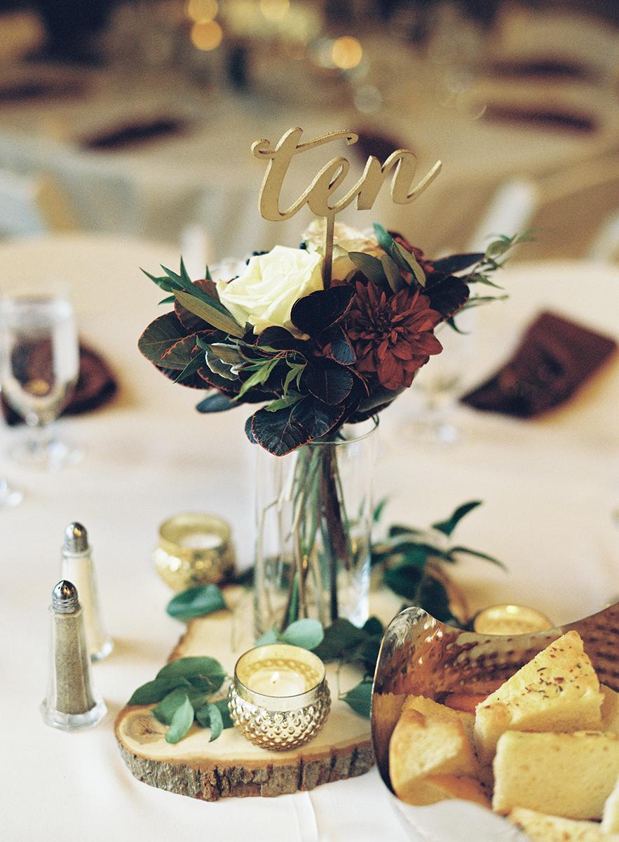 Wedding Reception Table Details on Film