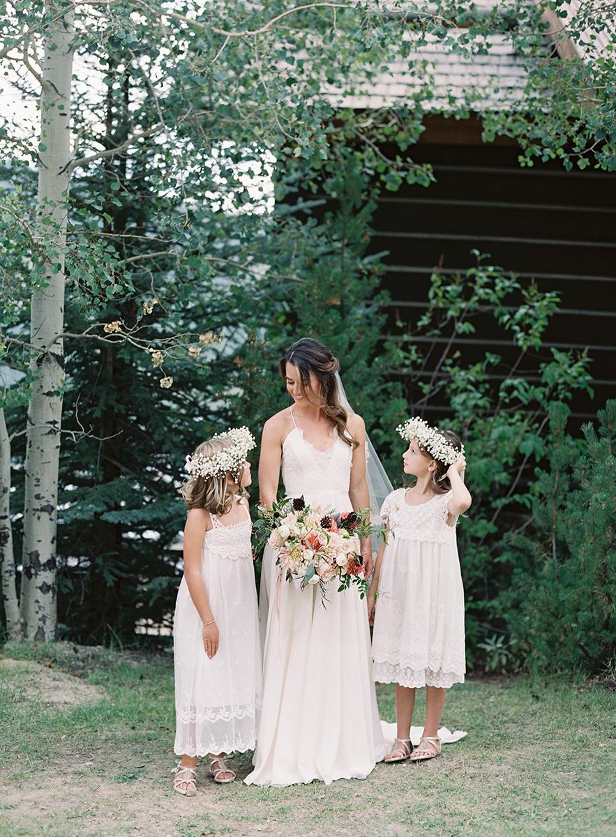 Bride with Flower girls on Film